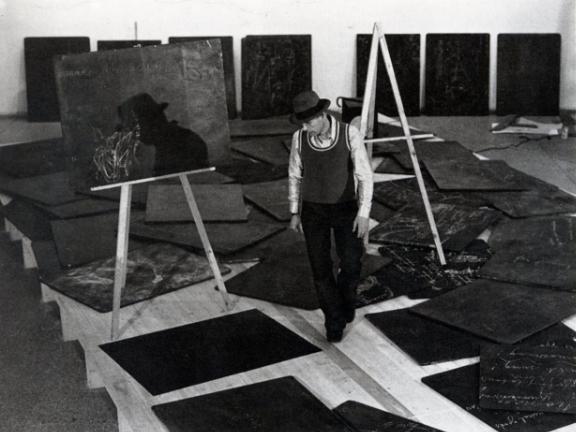 Joseph Beuys at  documenta 5 , 1972