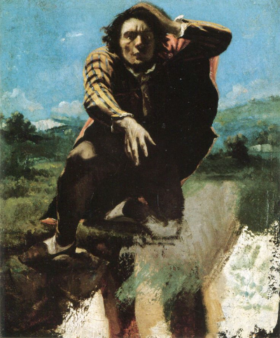The Man made mad by Fear  (self portrait)Gustav Courbet  1843