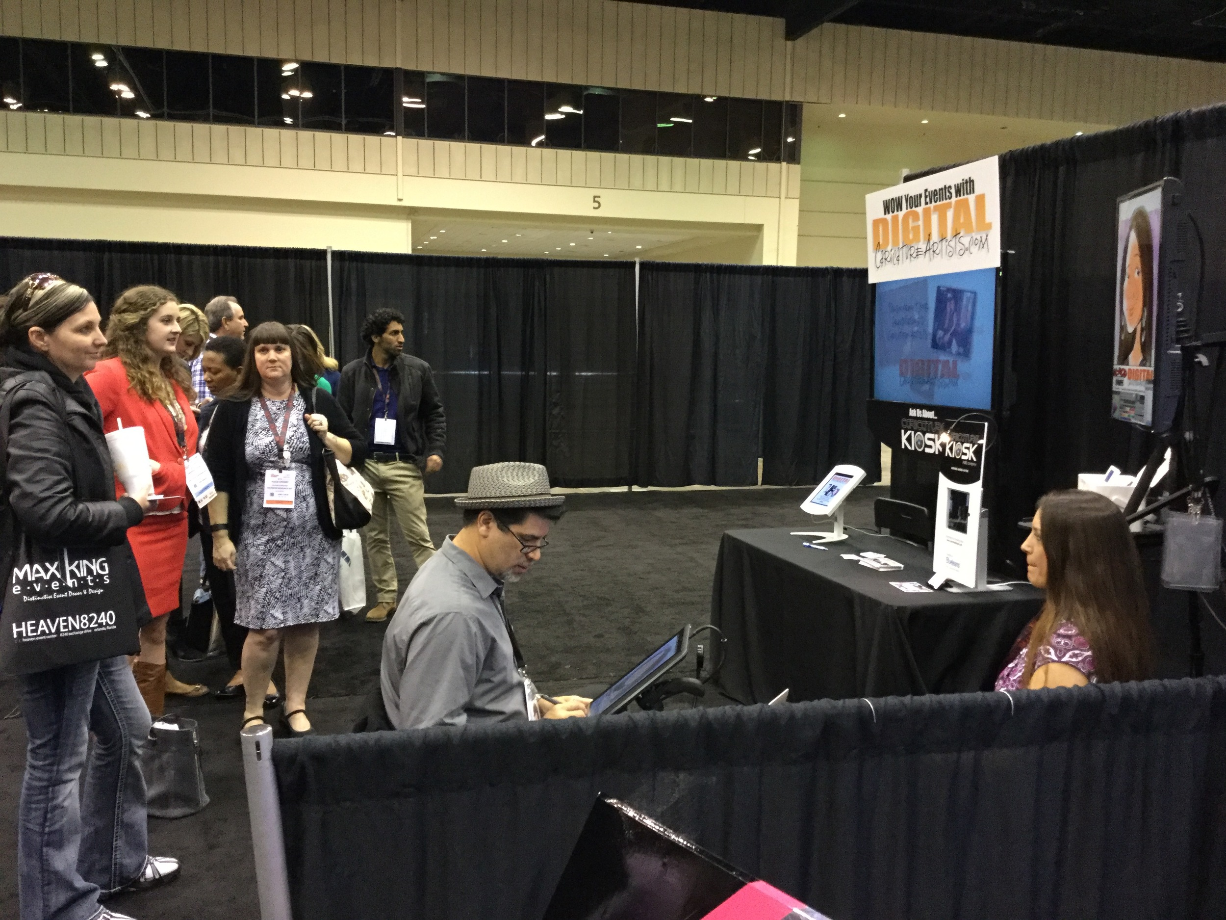 Digital Caricatures Orlando Trade Show Expo