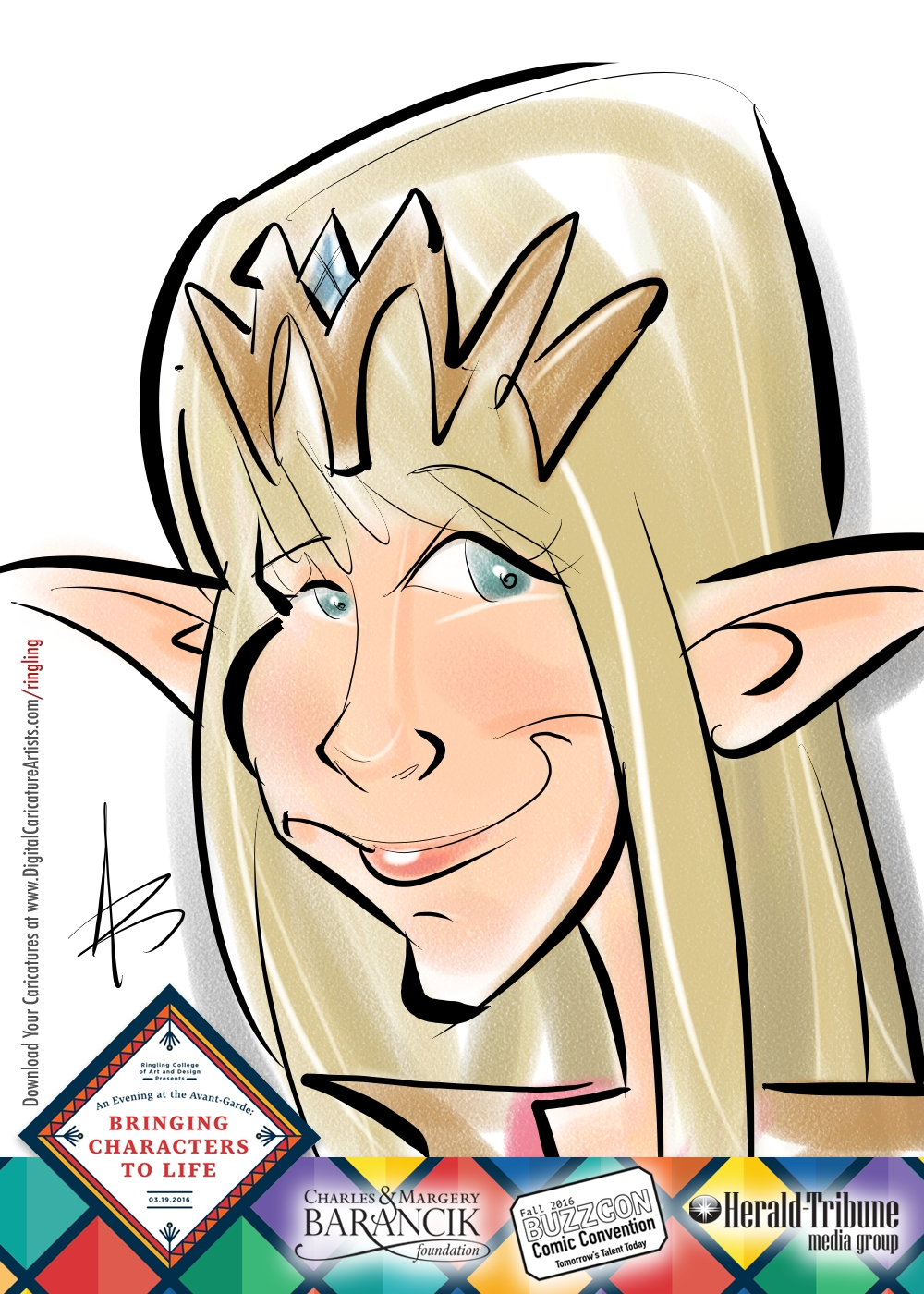 Elf Digital Caricature