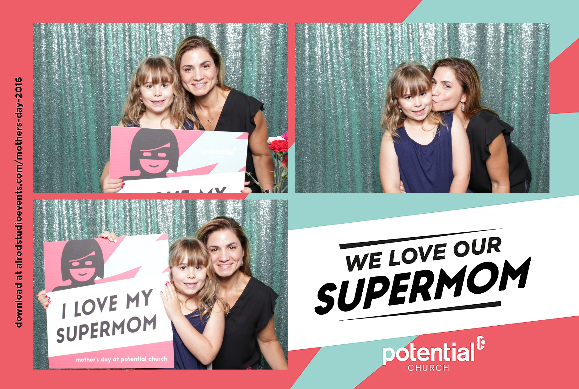 Mother's Day Photo Booth at Potential Church