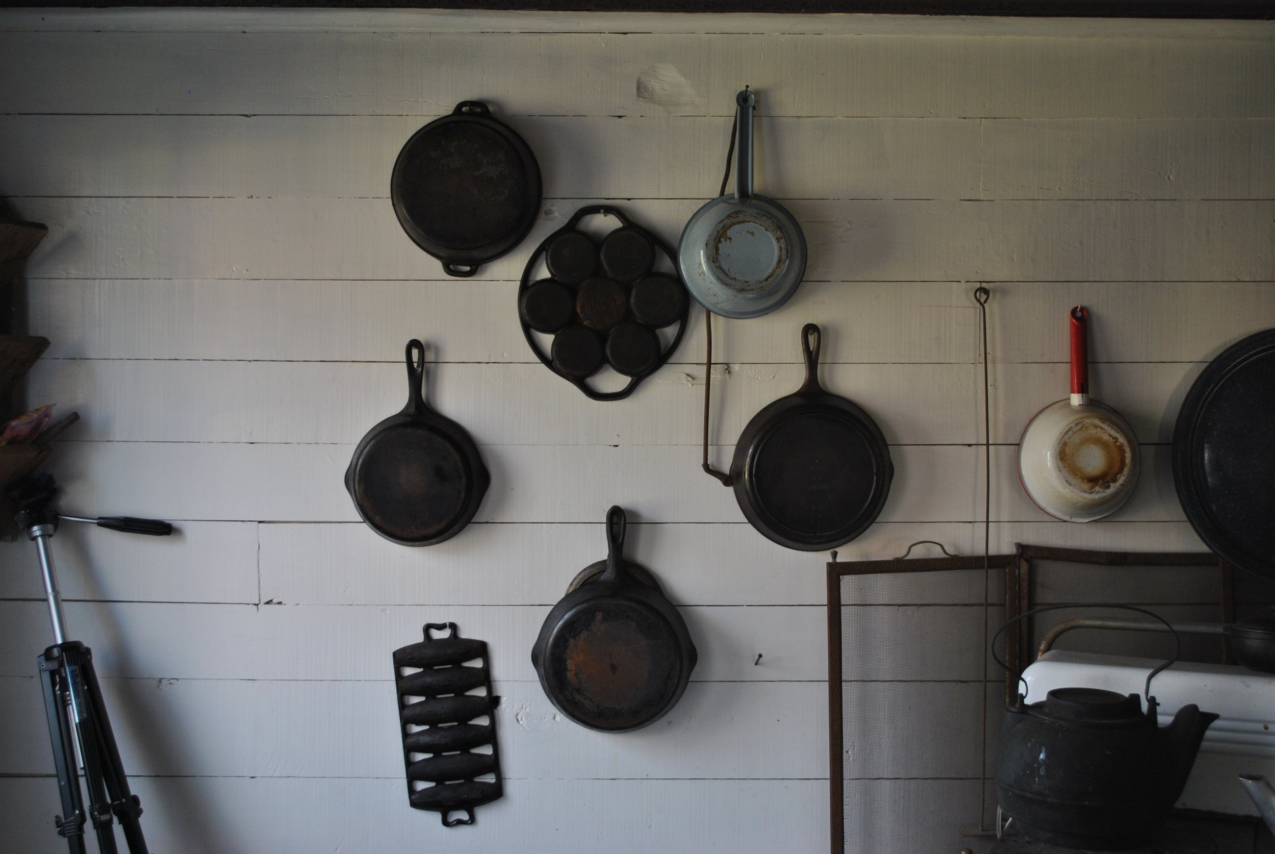 Cast iron cookware provided