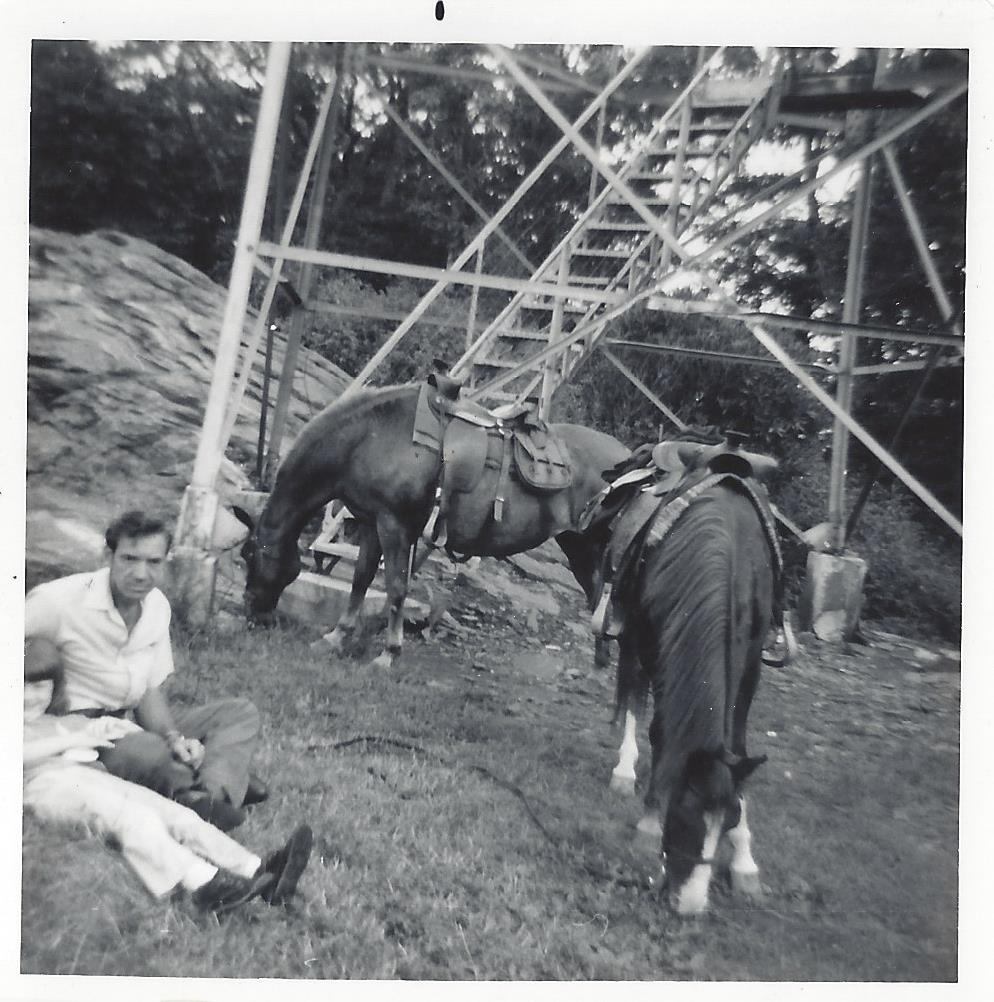 Family trail ride to Fire Tower (1975)