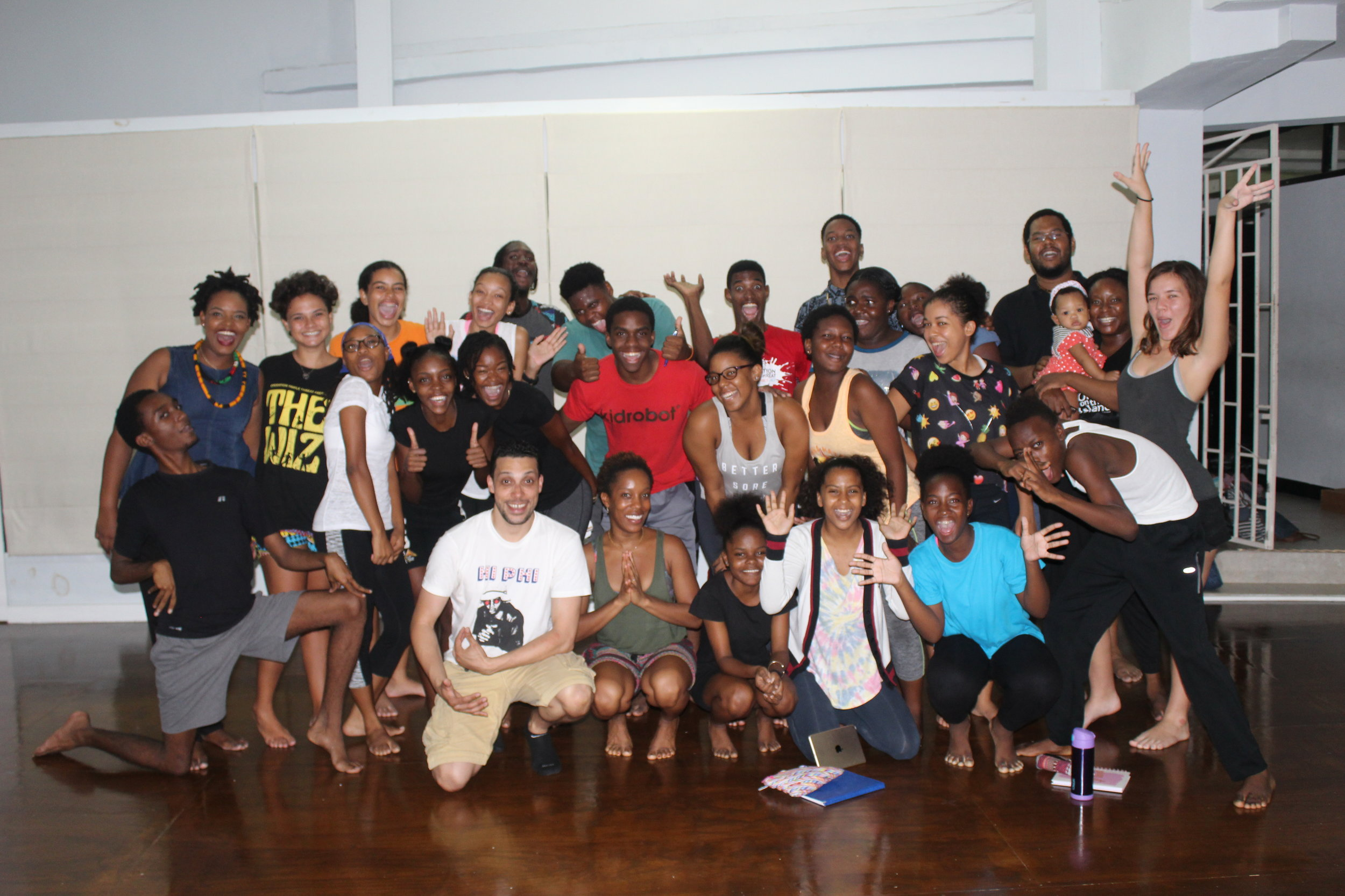 Students of OTT with Wilson, Tanya