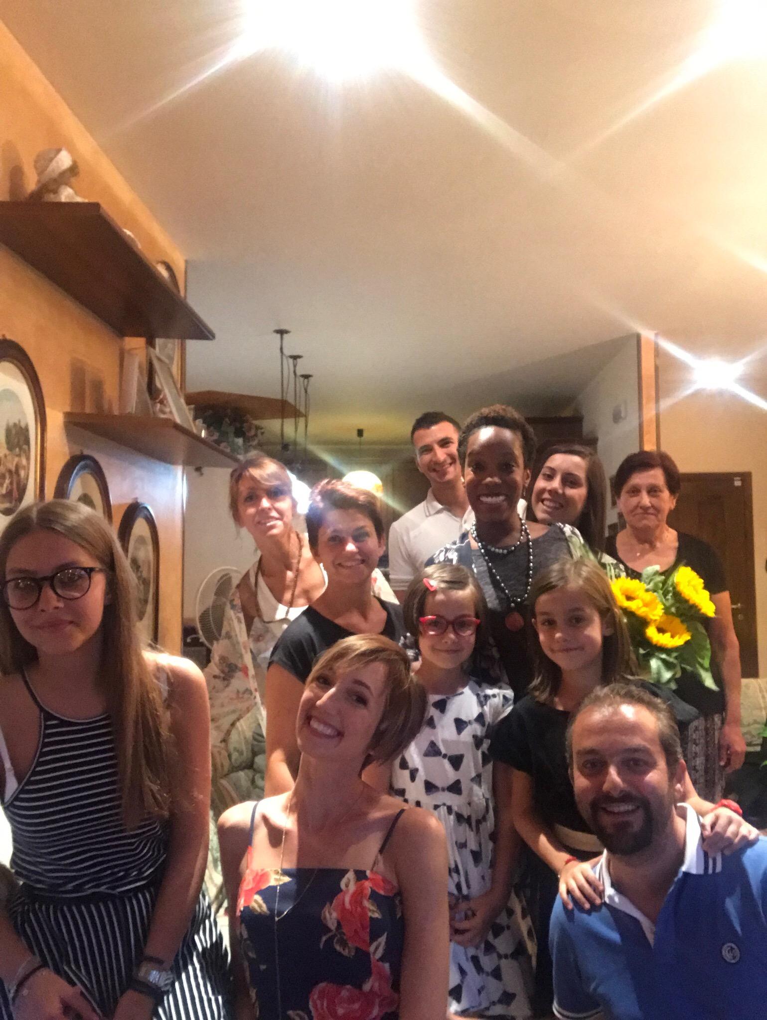 my birthday celebration in Italy