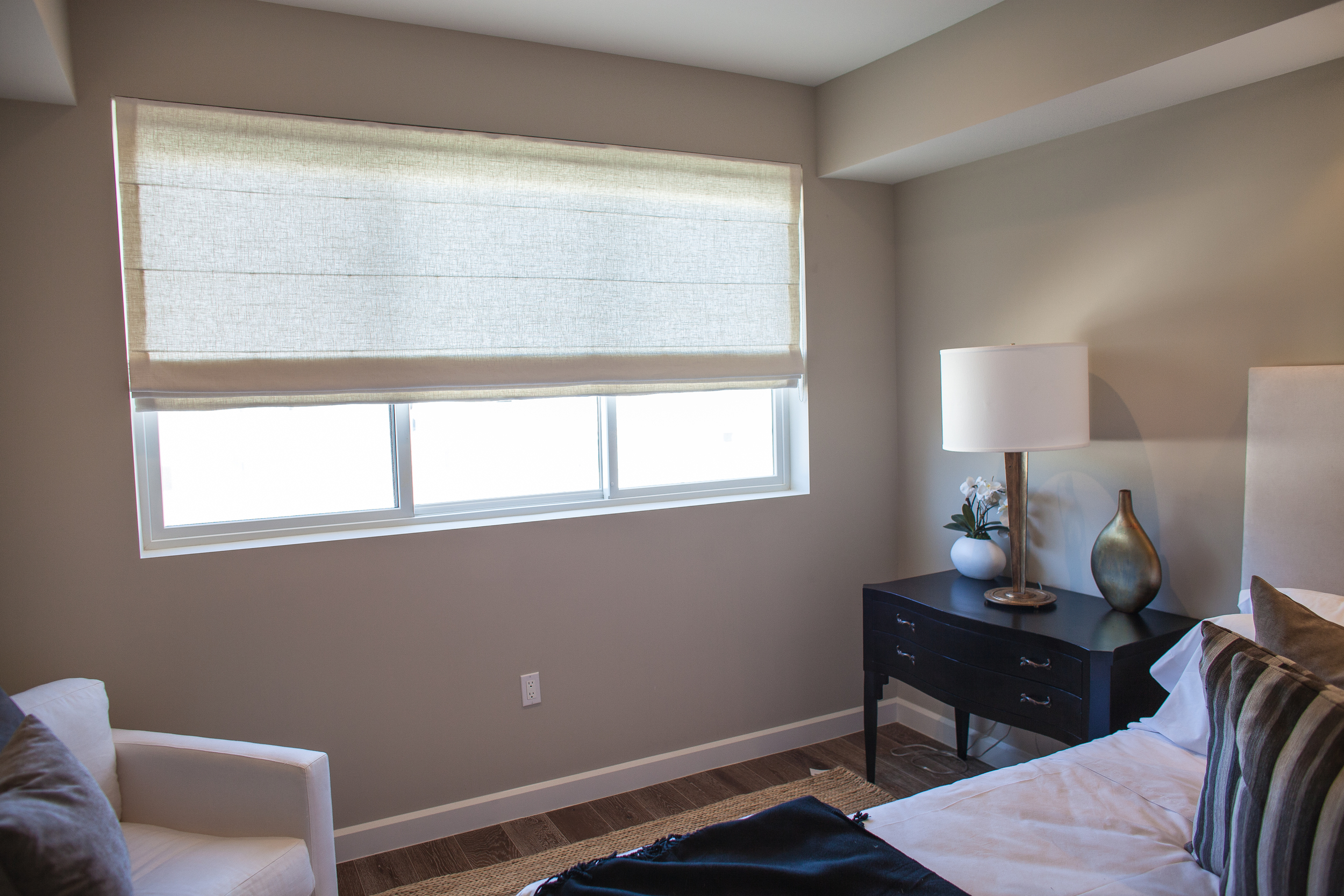 Roman Shades in the Bedroom