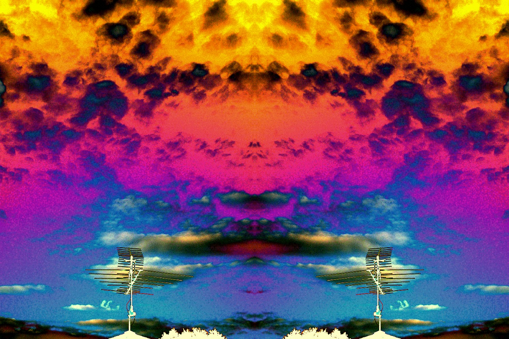 PsychedeLic-cLoud Remix  Roof Top / Clouds w. Negative Effect (1216 photography)