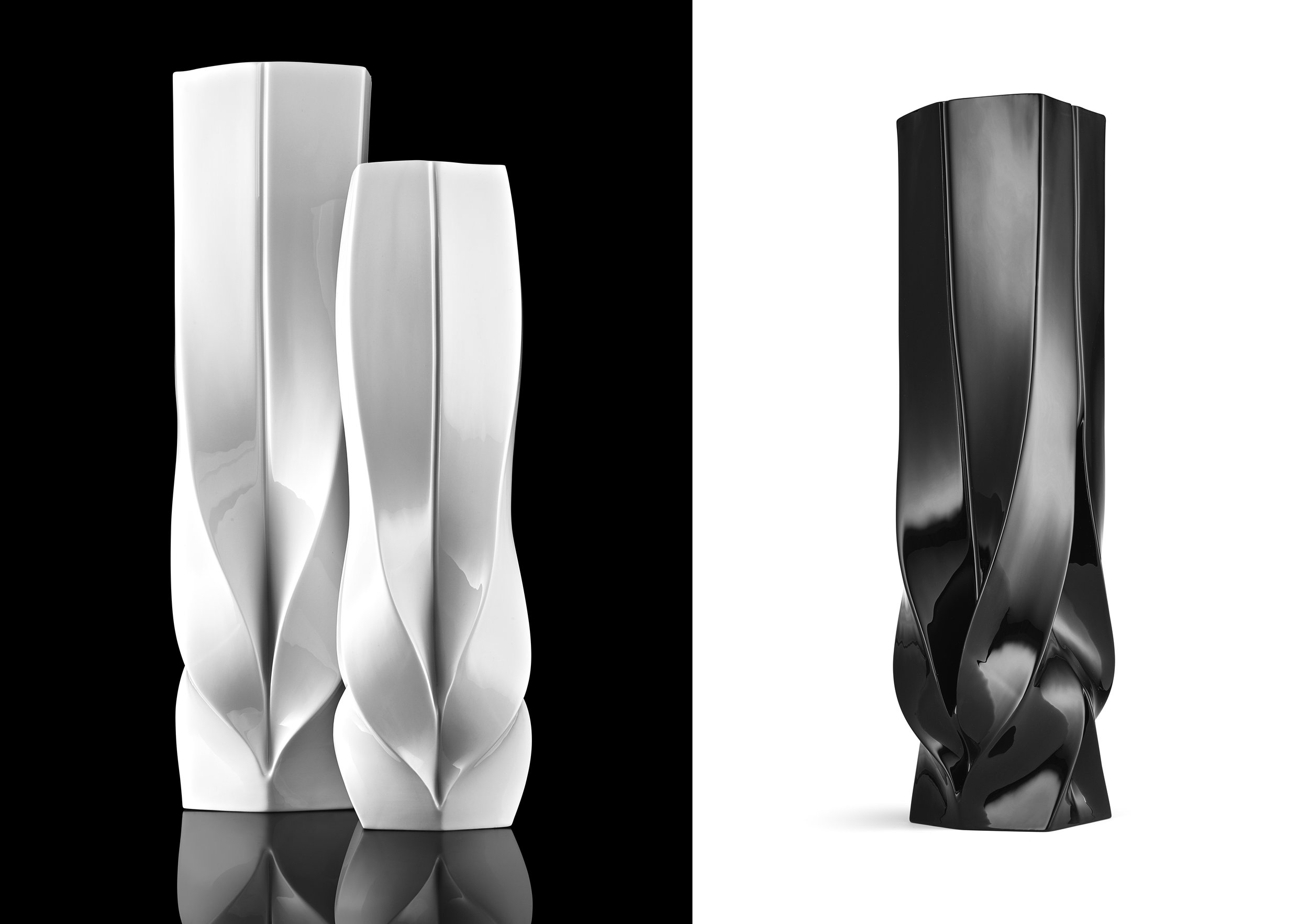 Вазы-небоскребы  - типичное украшение стола от ZHA.jpg