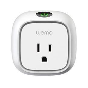 Wemo   Wemo is a family of simple and customizable products that allow you to control home electronics from anywhere. Never again will you have to worry about turning off your lamps, coffee maker, curling irons, Christmas lights, radio or other objects. Information courtesy of  Gadget Review .