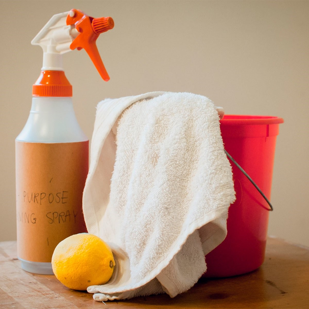 - Homemade All Purpose CleanerSpray Bottle½ cup of vinegar2 tbsp baking sodaTea Tree Essential OilEucalyptus Essential Oil