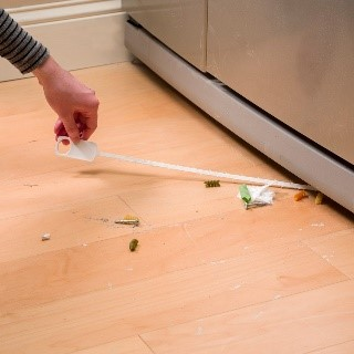 - Need to clean under your fridge?Take a hair trap cleaner, slide it under the fridge, and pull out all unwanted objects!