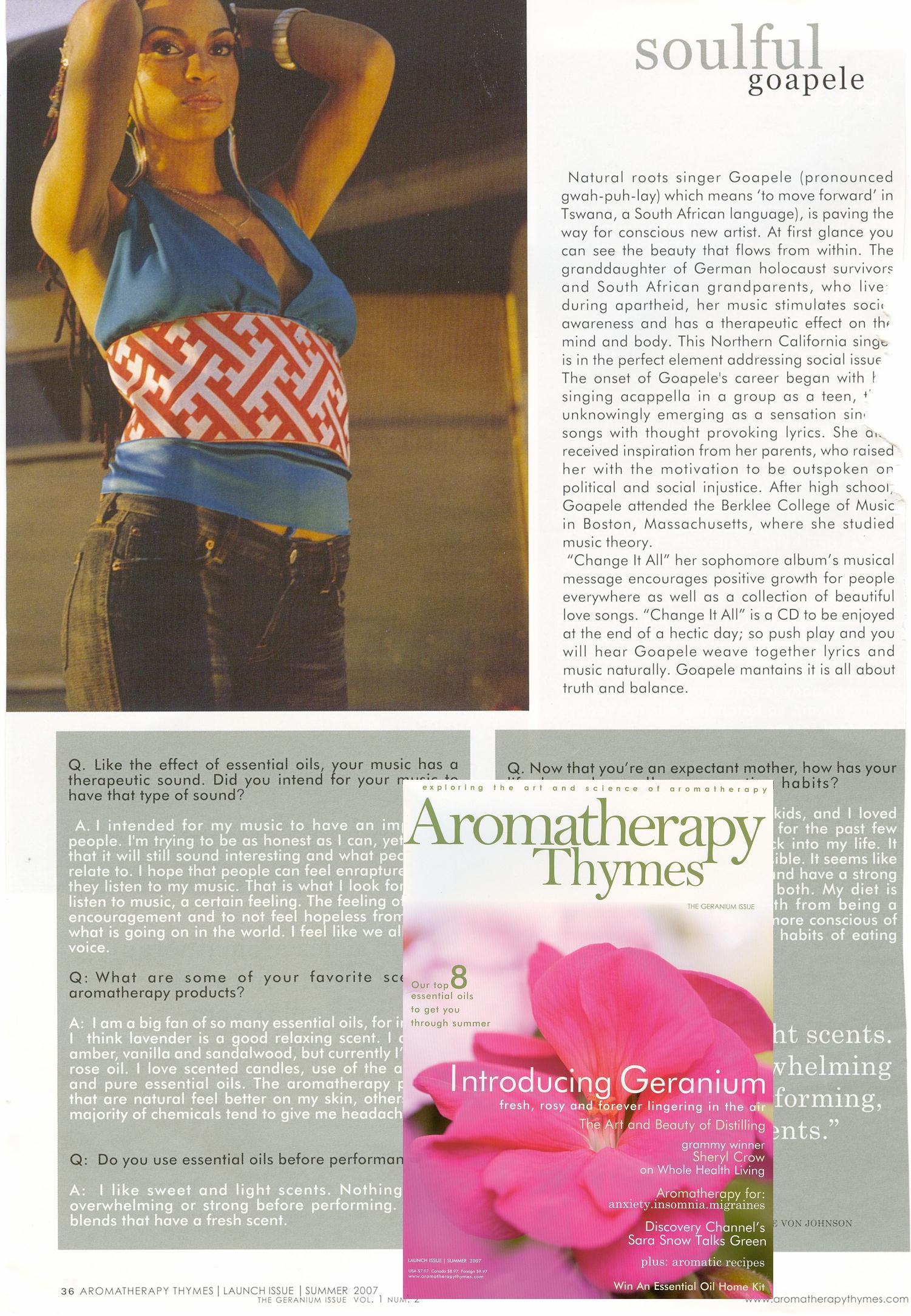 AROMATHERAPY THYMES