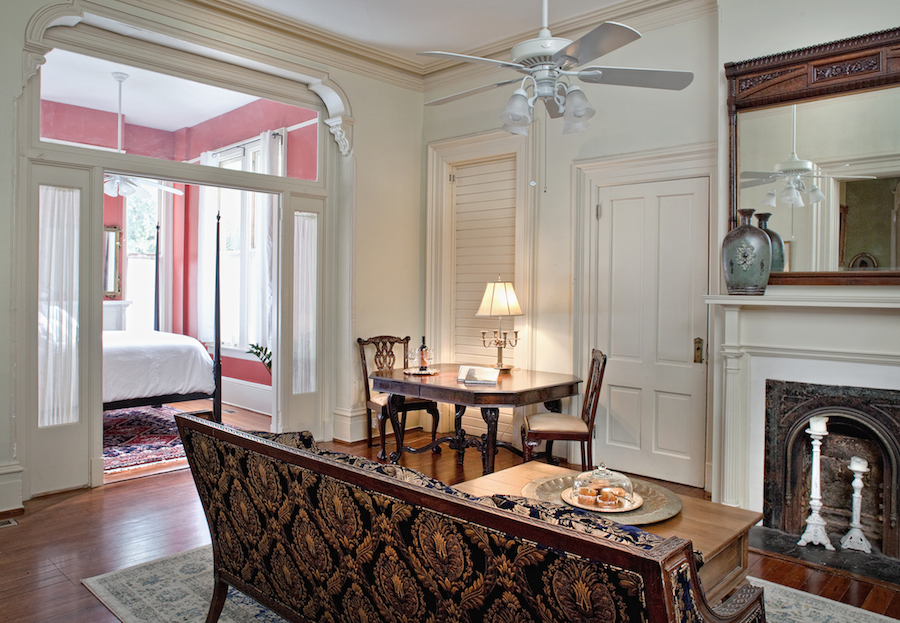 Top Bed and Breakfast in Savannah, Button Living Room.jpg