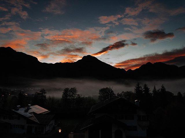 Morning view from Hotel Garni Tannhof in Oberstdorf #bavaria #alps #bergliebe