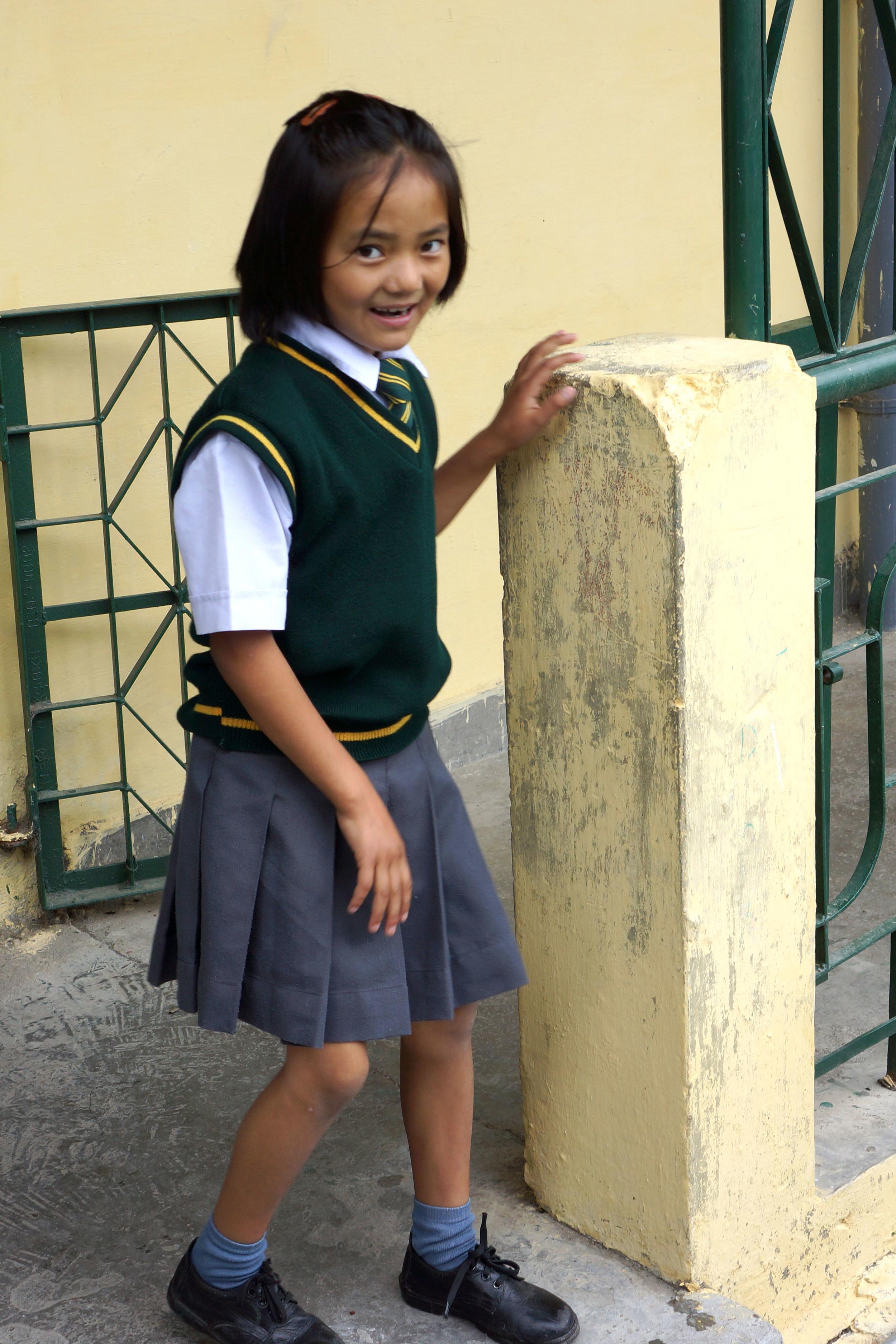 Tibetan girl standing
