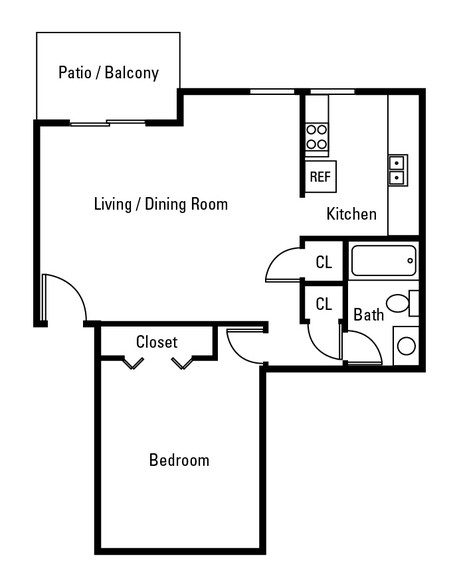 1 Bedroom | 1 Bathroom | 800 SF