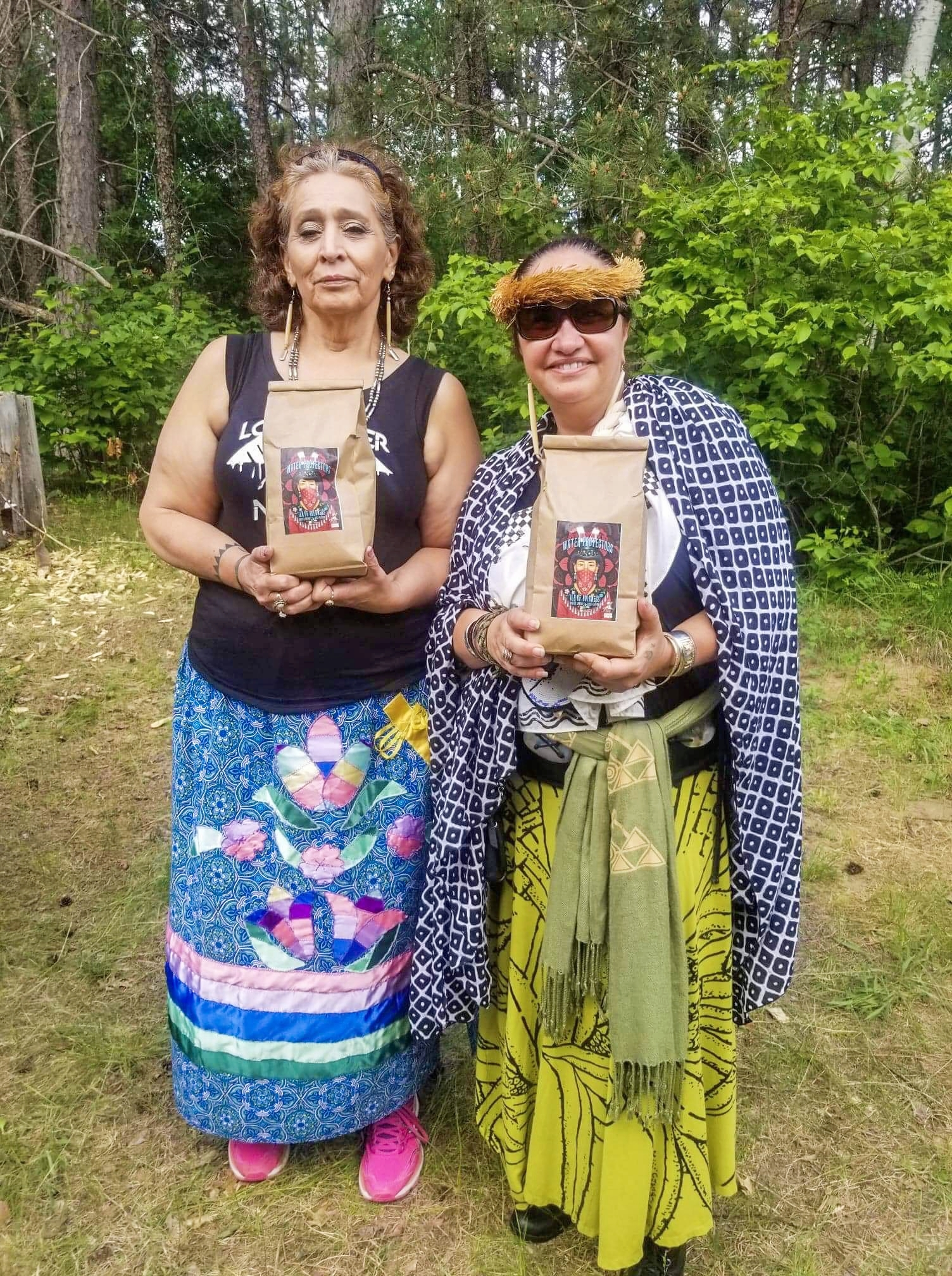 Women Water Protectors - From the highest mountain, Mauna Kea (Pua Case), to the hills, and rivers of Standing Rock (LaDonna Brave Bull Allard).