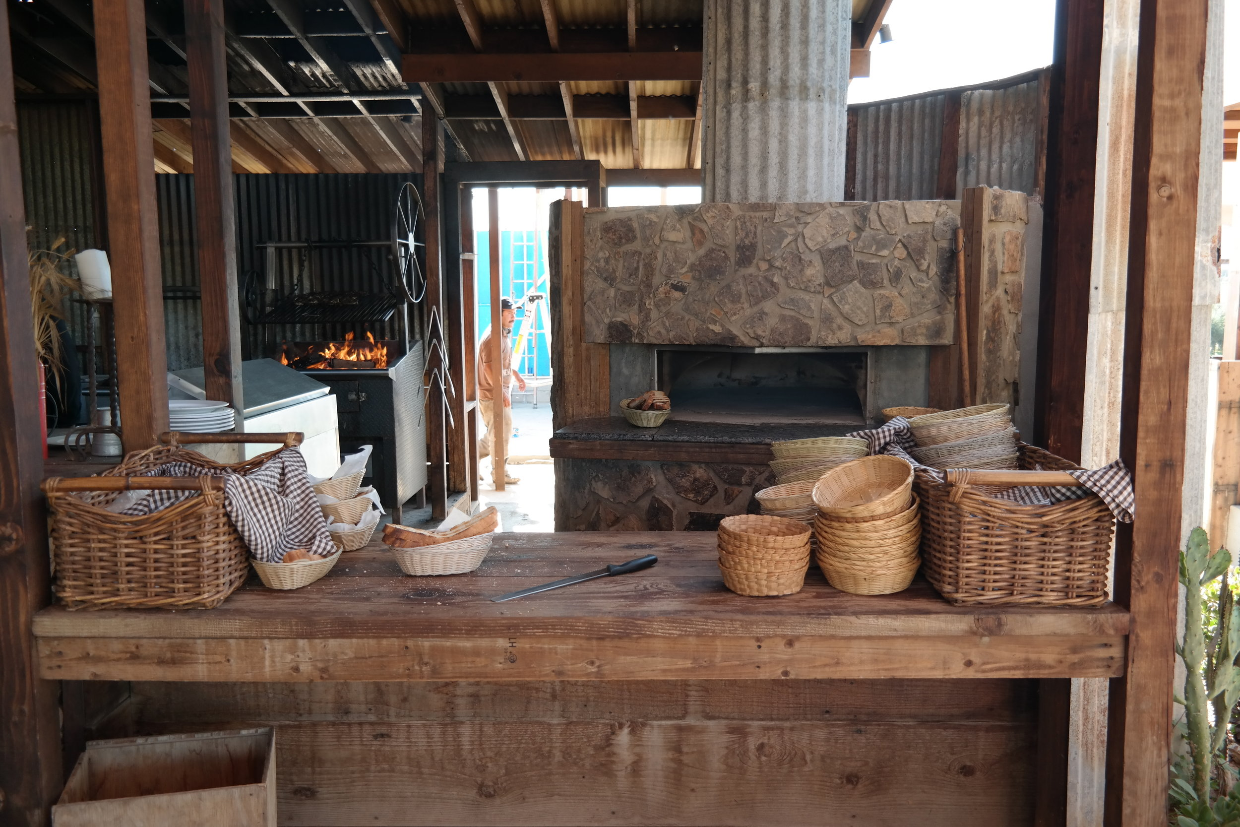 Fresh bread from the hearth