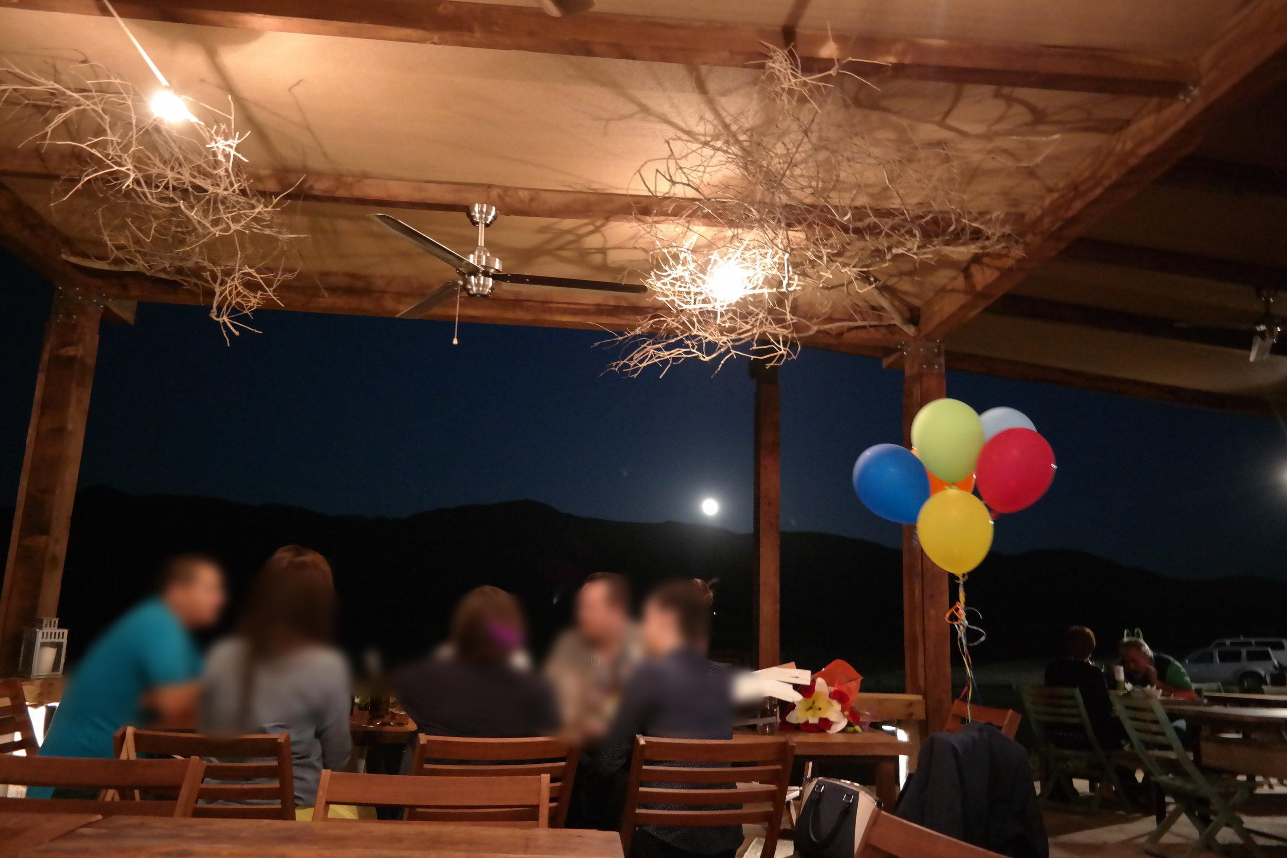 Moonlight over the perfect dinner at Finca Altozano