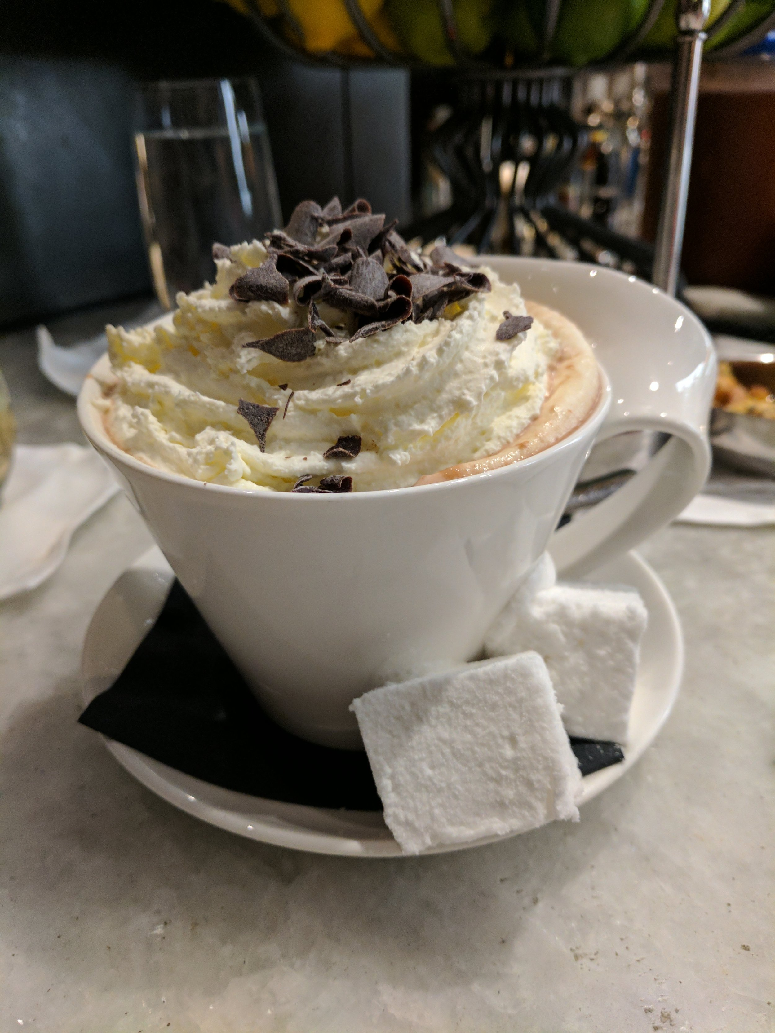 MORE HOT CHOCOLATE! Little Nell Après Ski with homemade marshmallows AND whipped cream