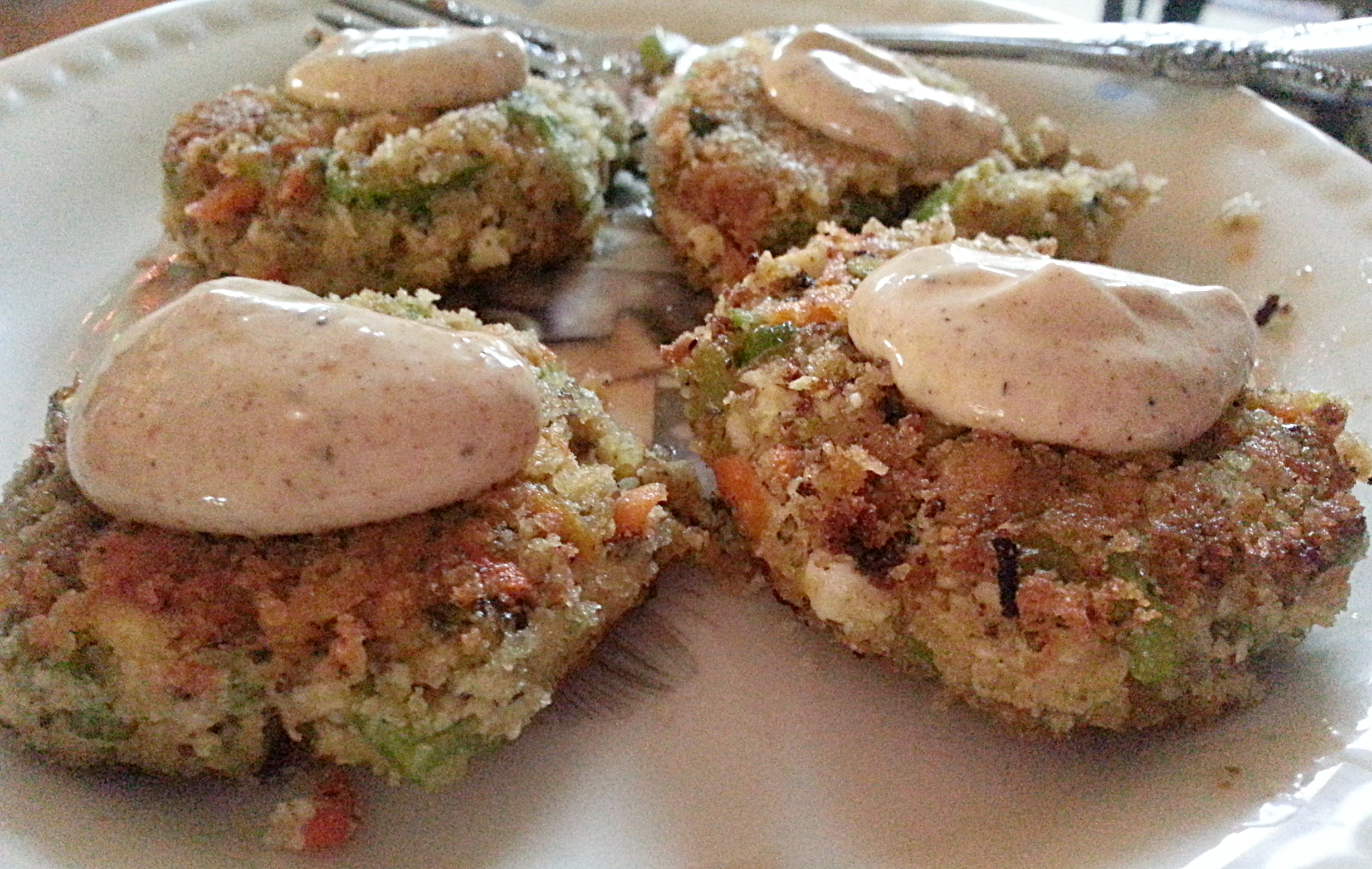 Vegan Crab cakes.