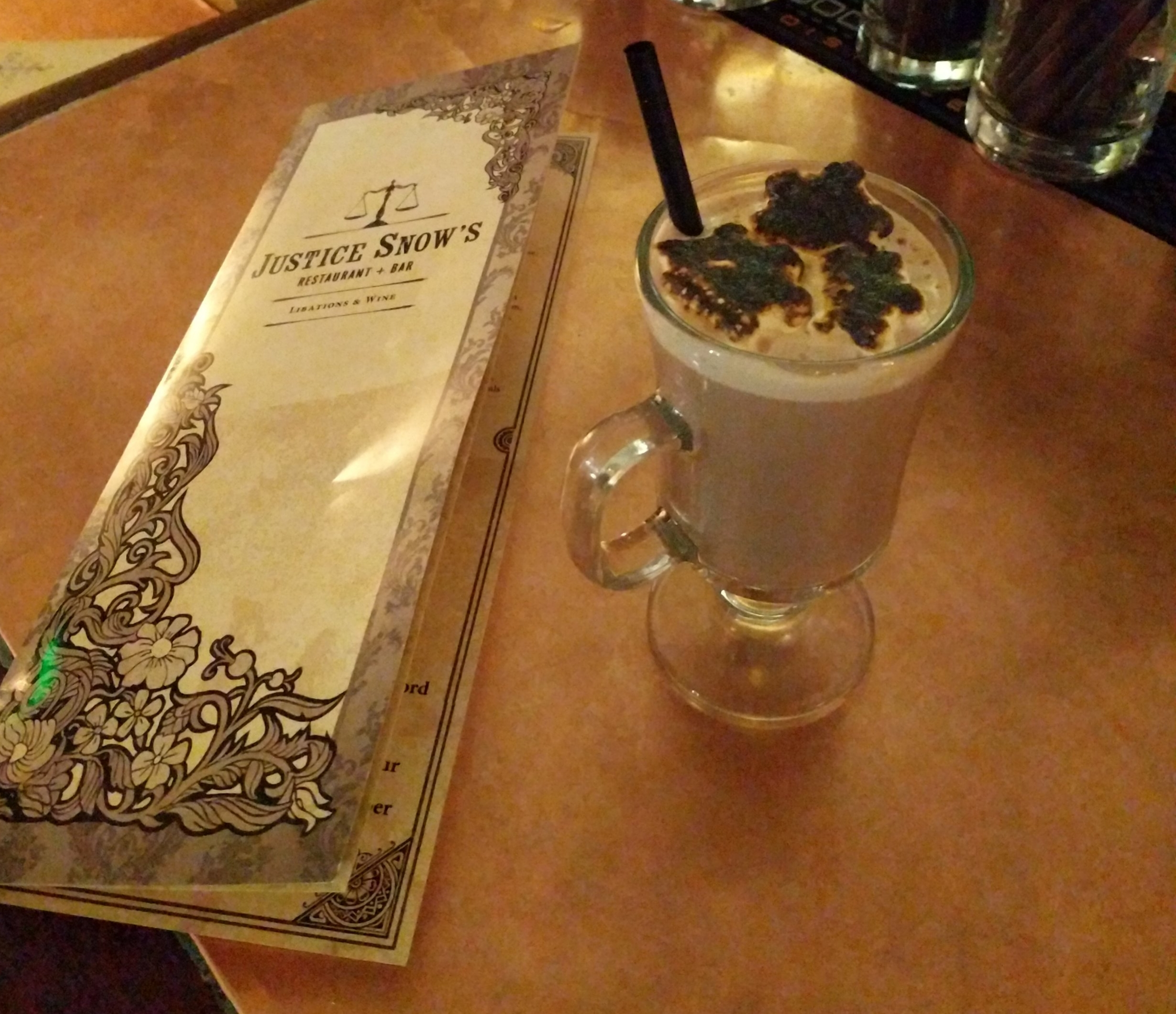 Boozy Hot Chocolate from Justice Snow's cocktail bar.