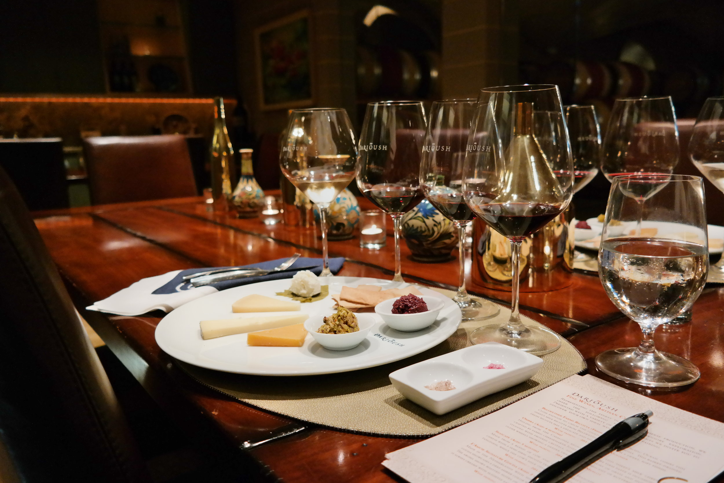 Darioush Wine and Cheese tasting worth a splurge!