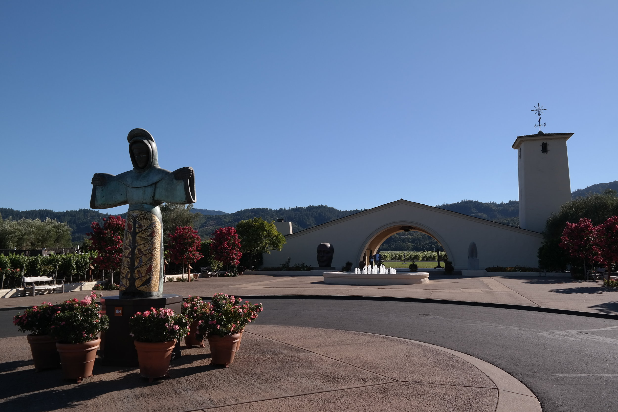 Robert Mondavi Winery now owned by AB-InBev a pillar in the history of Napa Valley.