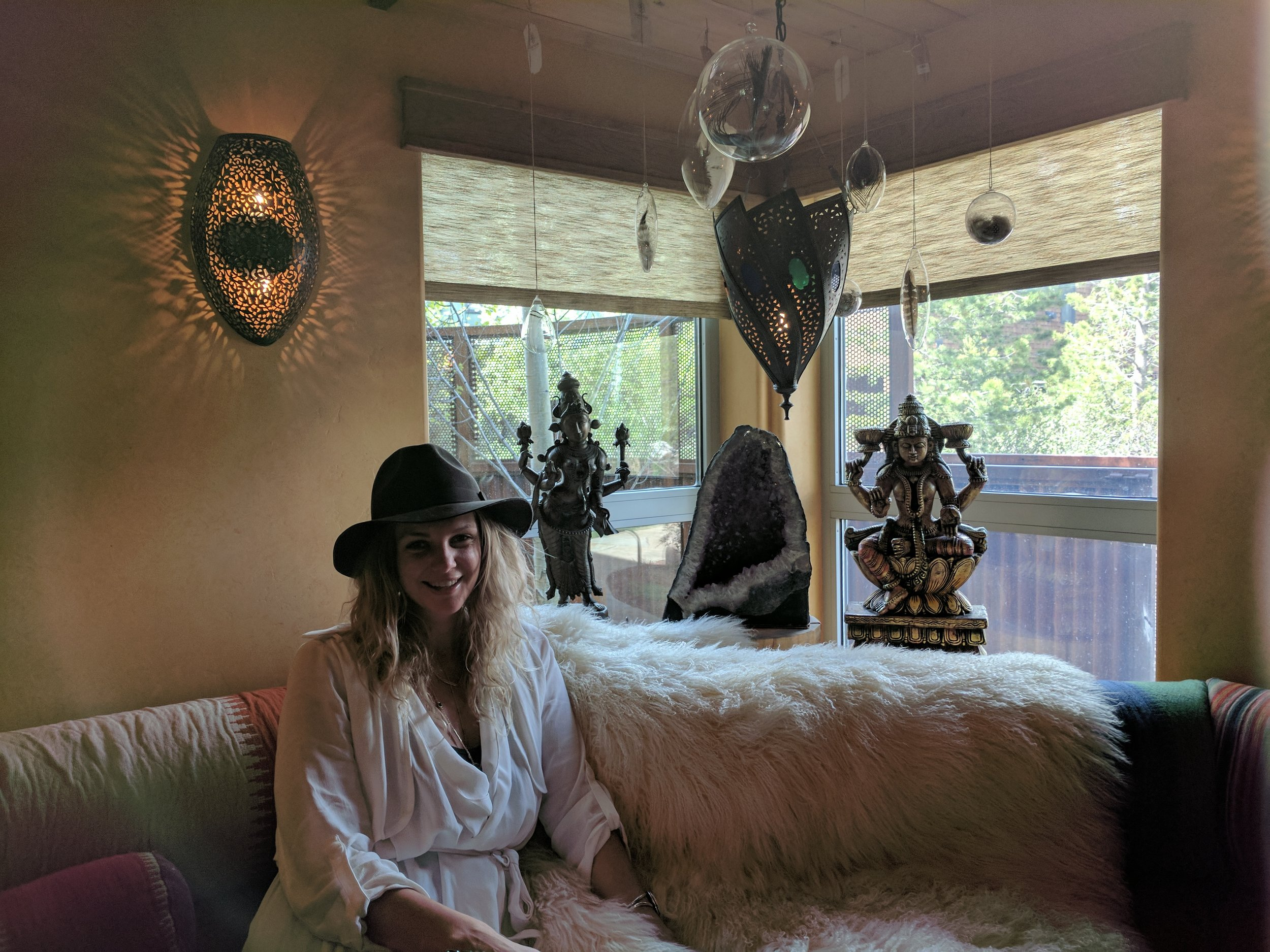 The coziest nook at True Nature Healing Arts Center