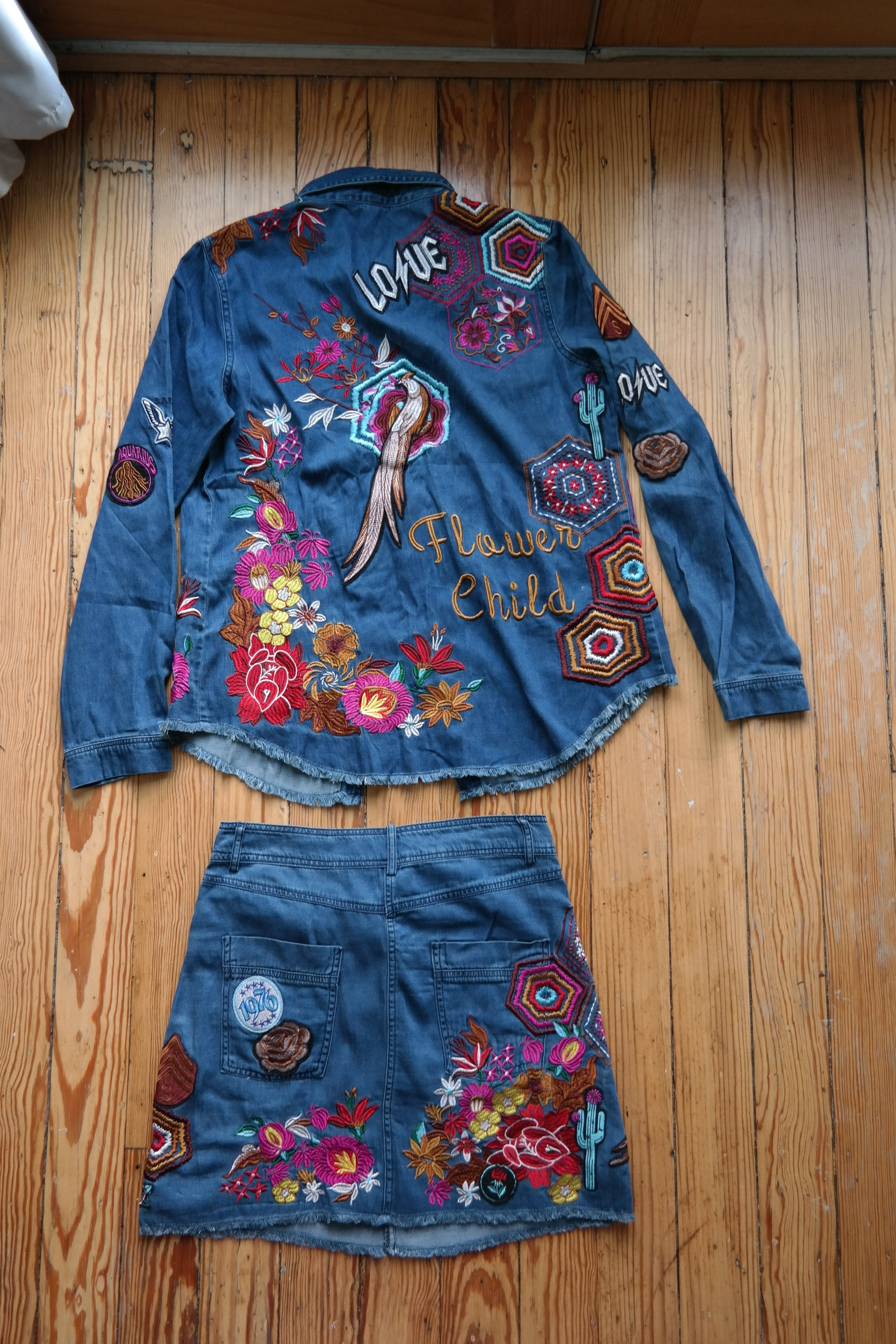 Spell and the Gypsy Collective Age of Aquarius Denim Set.