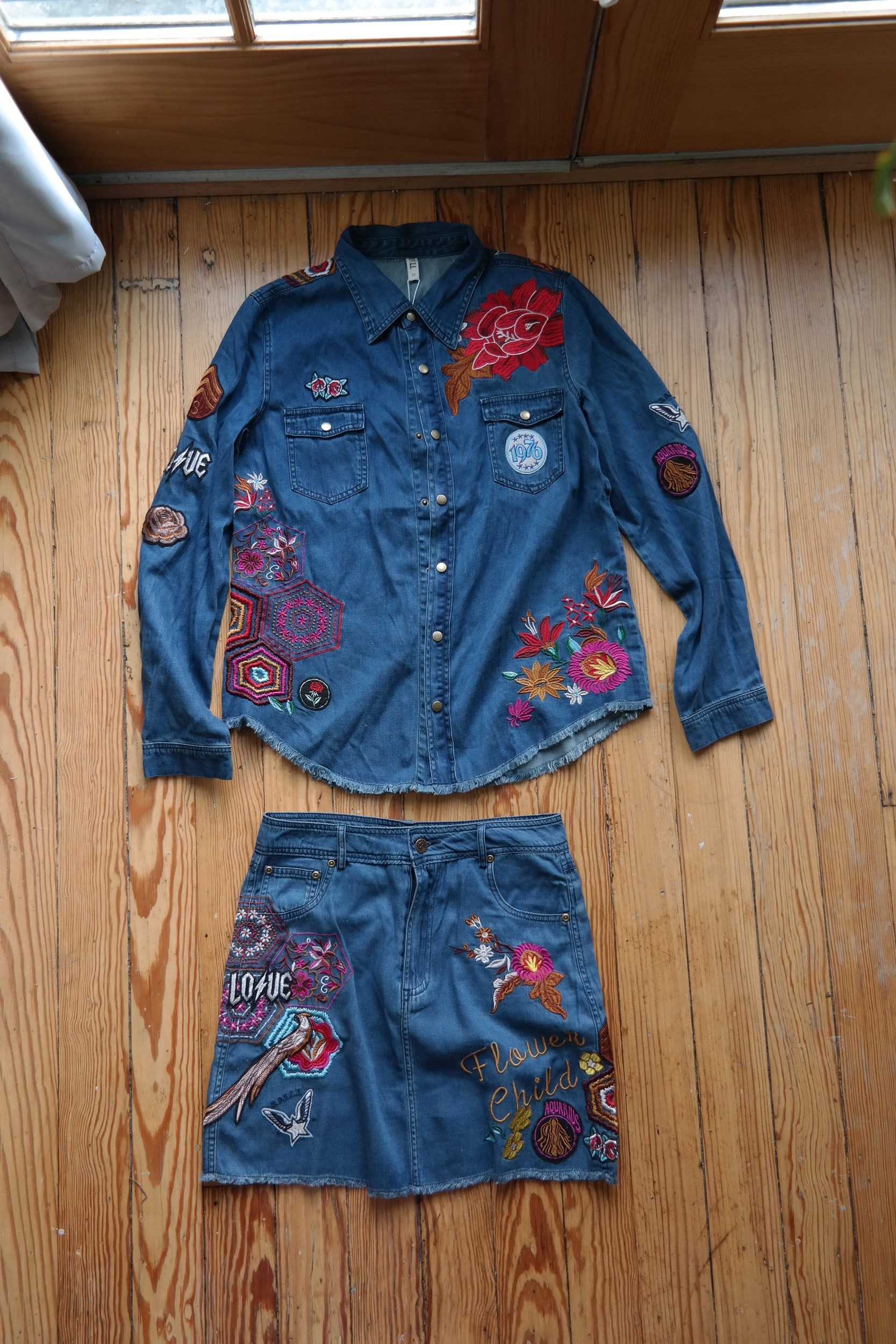 Spell and The Gypsy Collective Denim Set, adorable, but expensive AF.