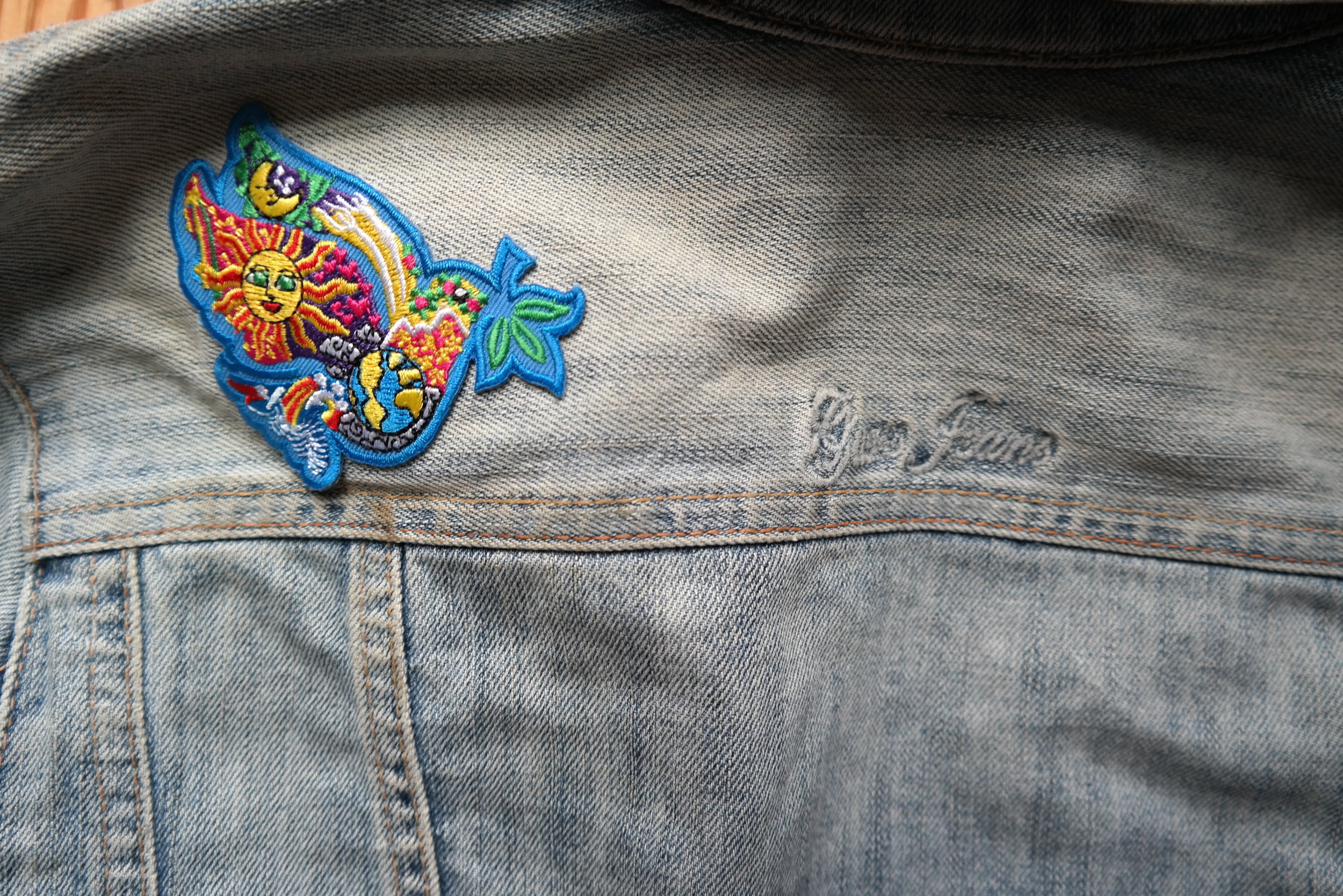 Guess Jeans and custom patches