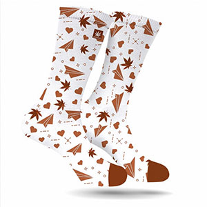Love Notes & Flowers For Your Toes! - These socks are just too cute and festive, no one could be upset receiving them.