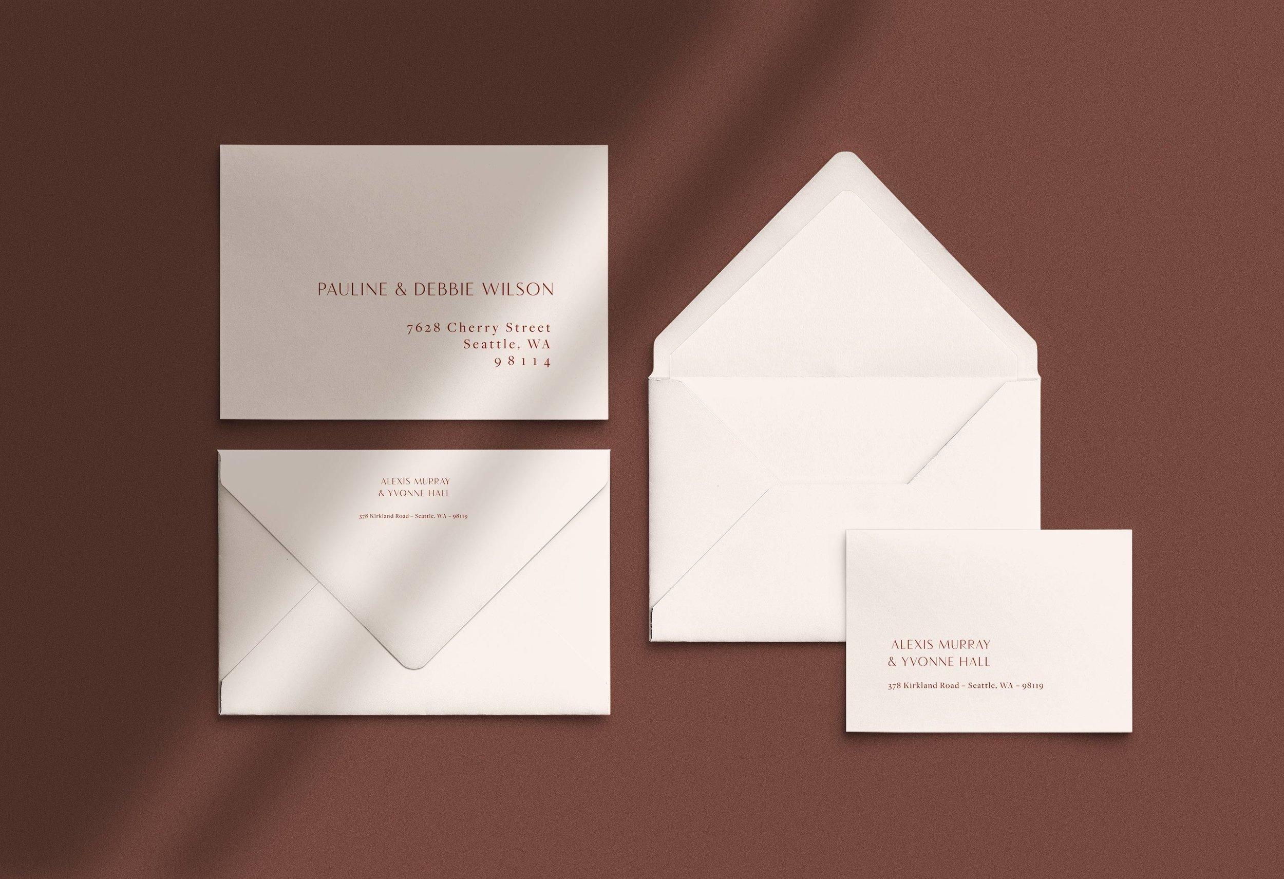 Carta Plena envelope addressing Alexis