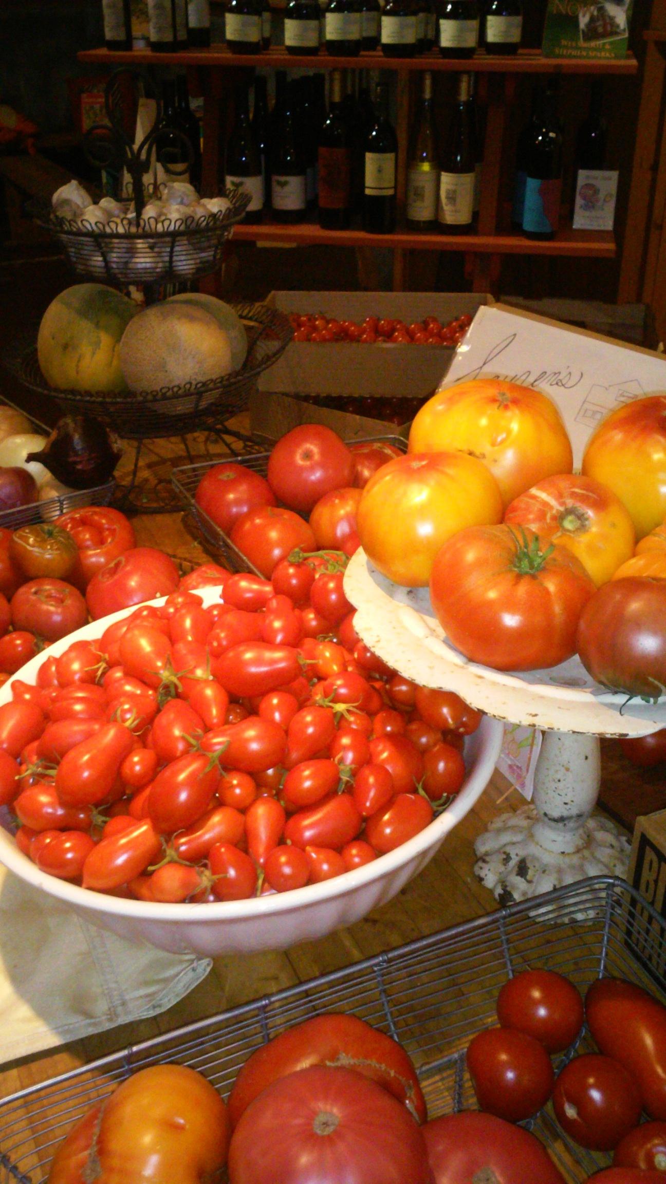 produce tomatoes wine background.jpg