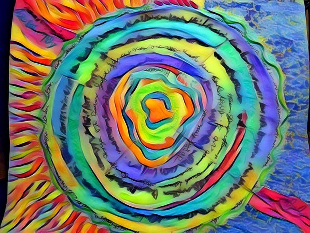 A labyrinth, a map