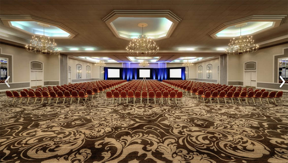The Sheraton/ Le Meridian Hotel Symphony 4 Ballroom set up and ready to be performed.
