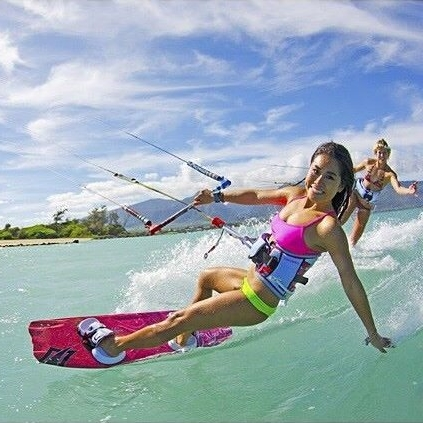Riho Shiraishi, Filmmaking Kiteboarder