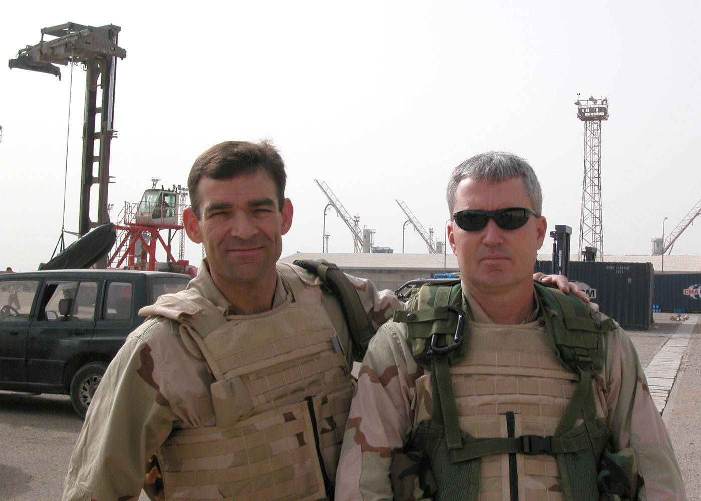 Anthony Rodgers and Kurt nelson leading mine clearance operations in Umm qasr