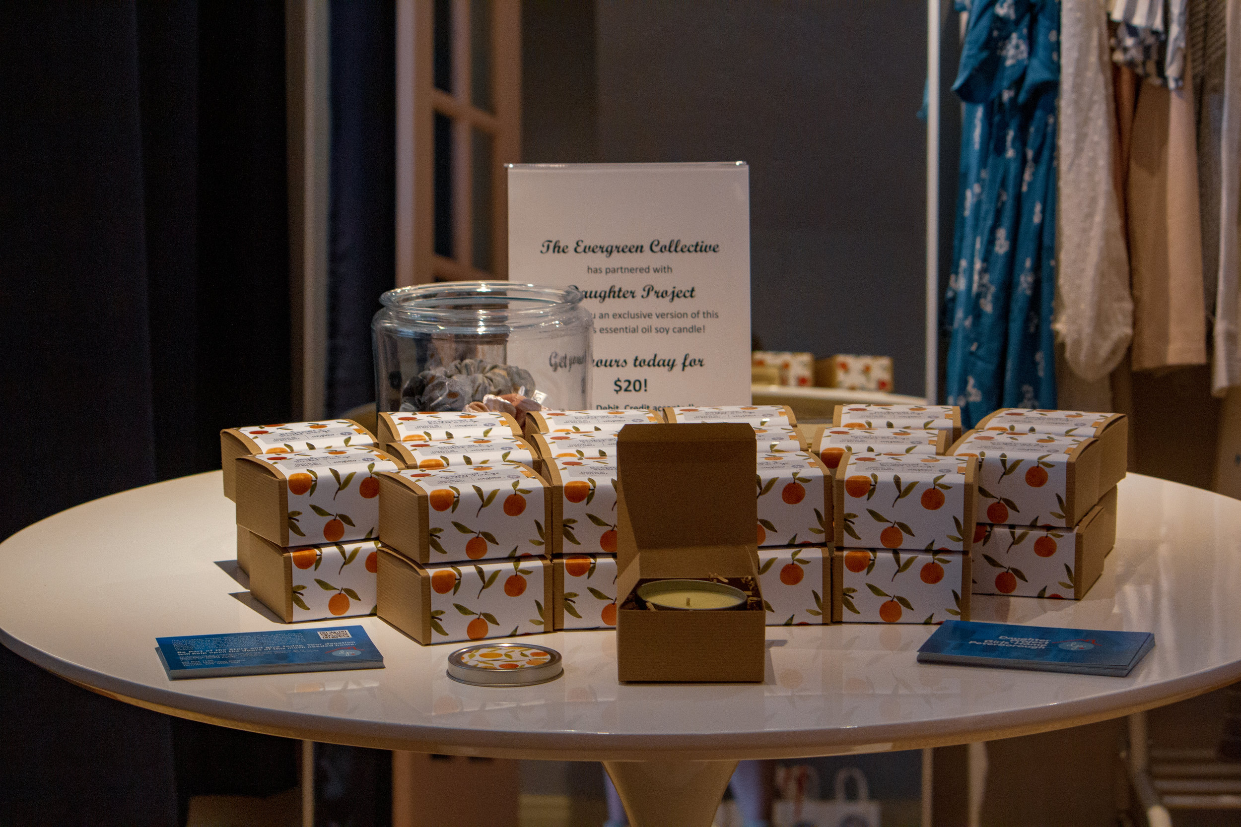 Limited Edition Essential Oil Candles in partnership with The Evergreen Collective.