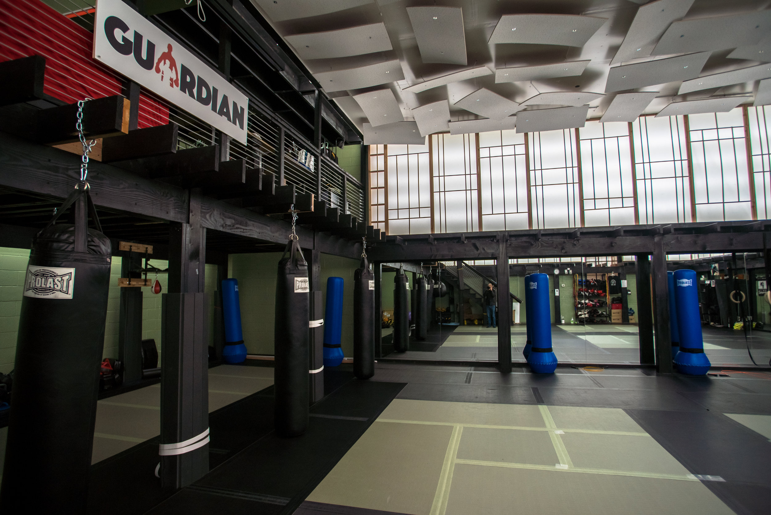 the empty mats of guardian gym waiting for its fighters