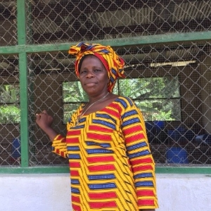 Annie Kruah, Chairman of Gbelay-Geh Rural Women in eastern Liberia