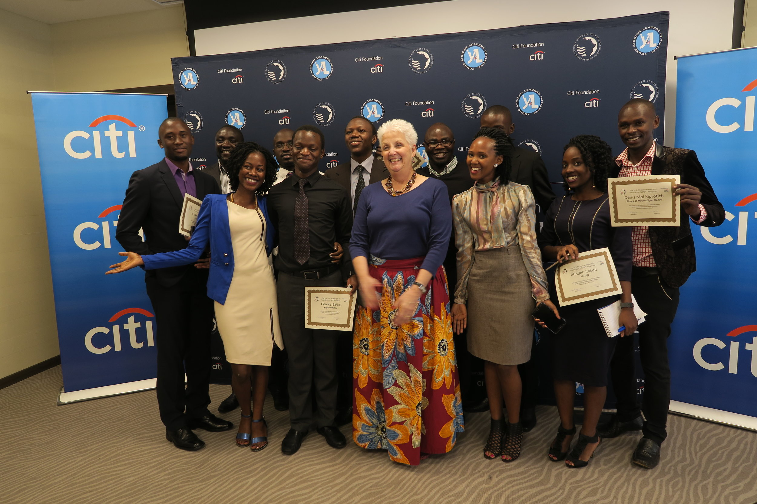 Kampala, Uganda – Ambassador Malac addresses youth social entrepreneurs at the USADF-Citi Foundation awards reception on March 2, 2017