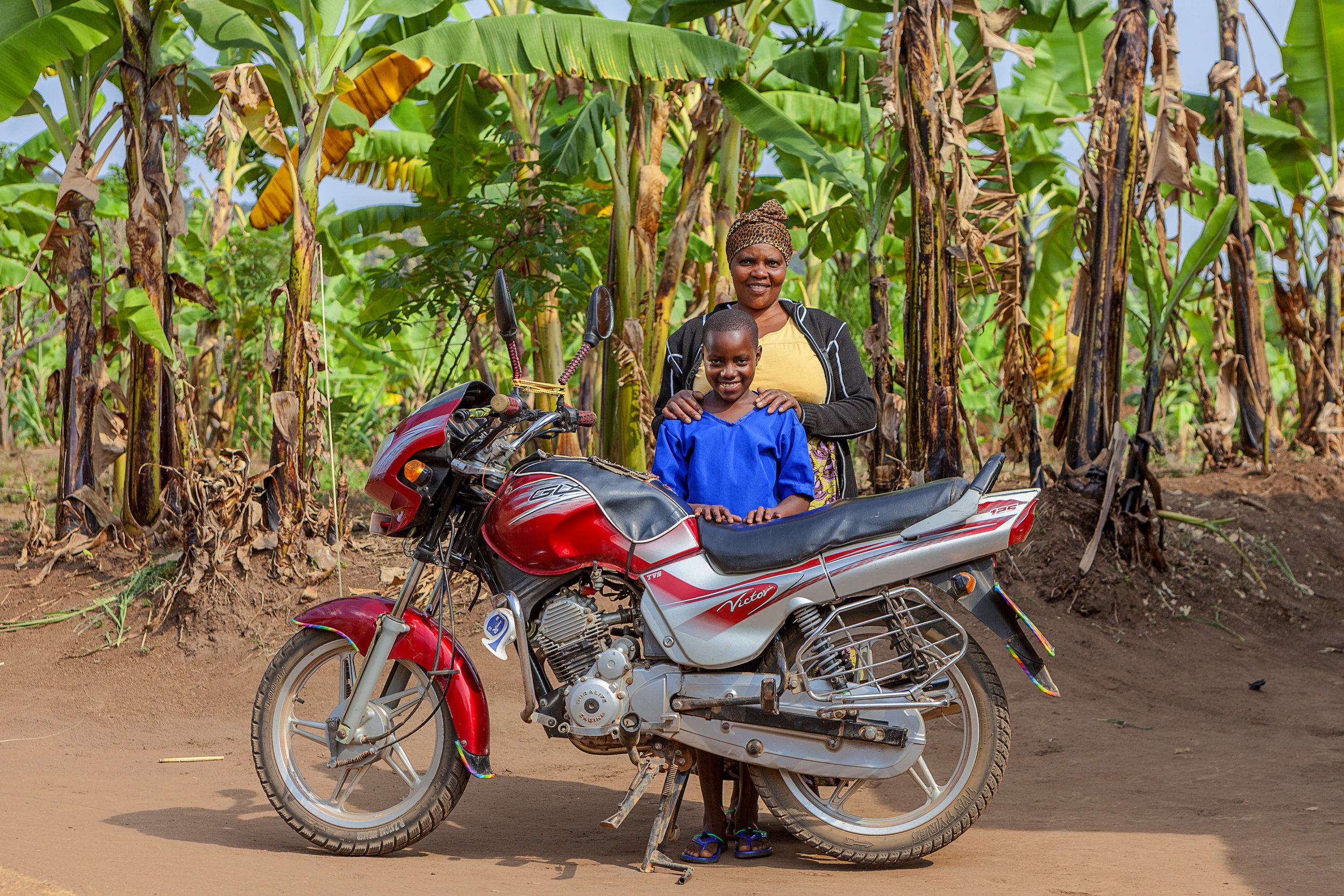 With savings from the weaving business, Monica acquired a motorcycle she uses for commercial transportation as a means of diversifying her income. USADF is committed to helping artisans like Monica to create pathways to prosperity.