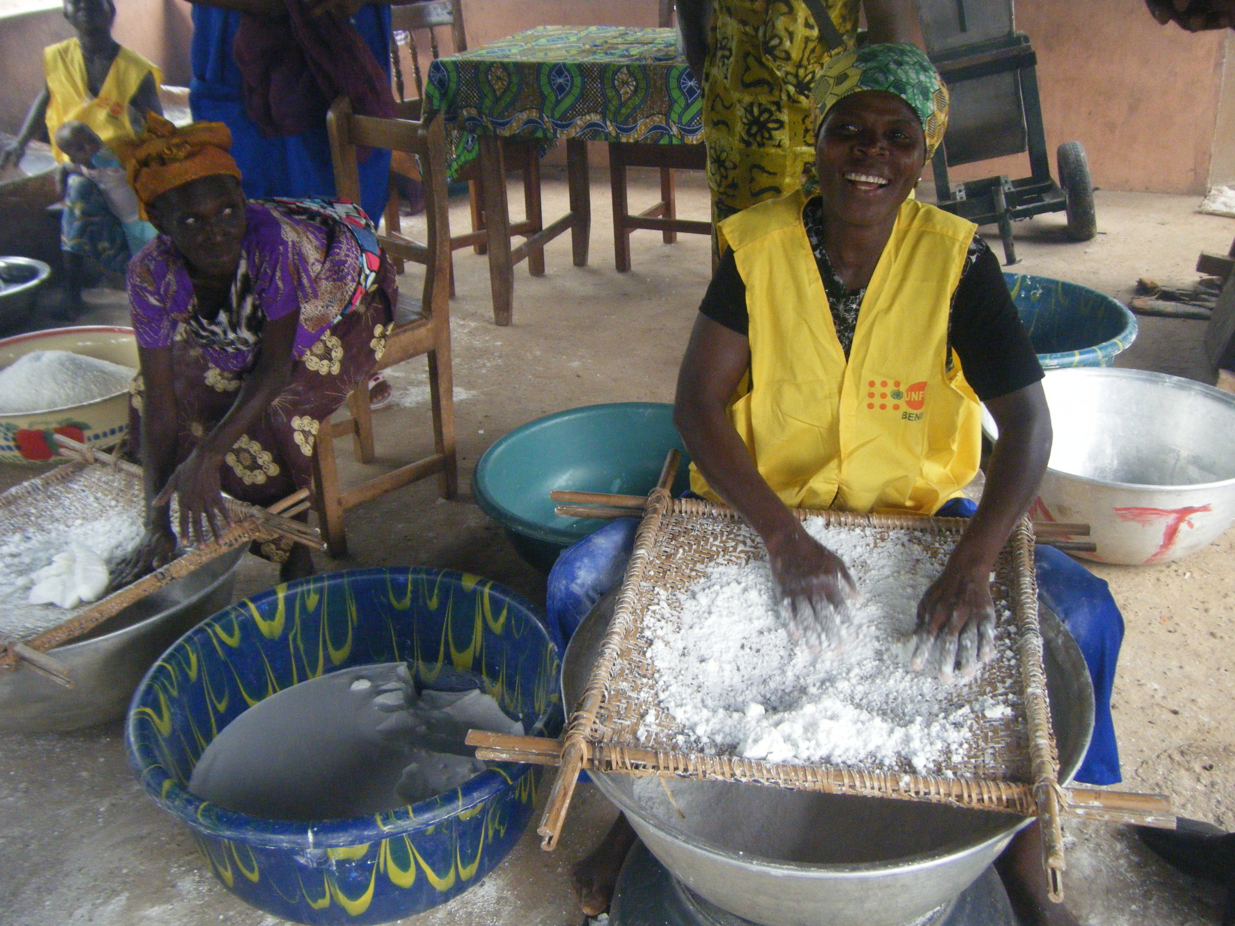 With a grant from USADF, Mialebouni Association in Benin was able to triple its sales and revenues of value-added cassava products.