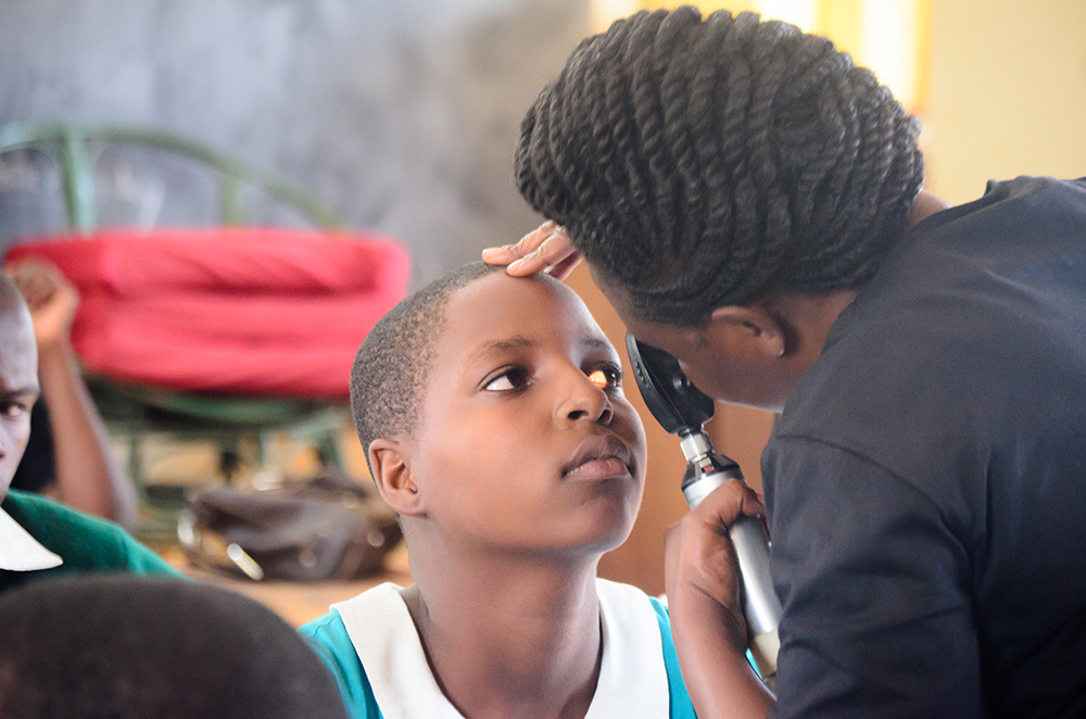 With seed capital from USADF and the Citi Foundation, Wazi Vision expanded operations and tested over 2,000 students with free vision tests, and provided over 400 children with eyeglasses. Photo credit: Wazi Vision