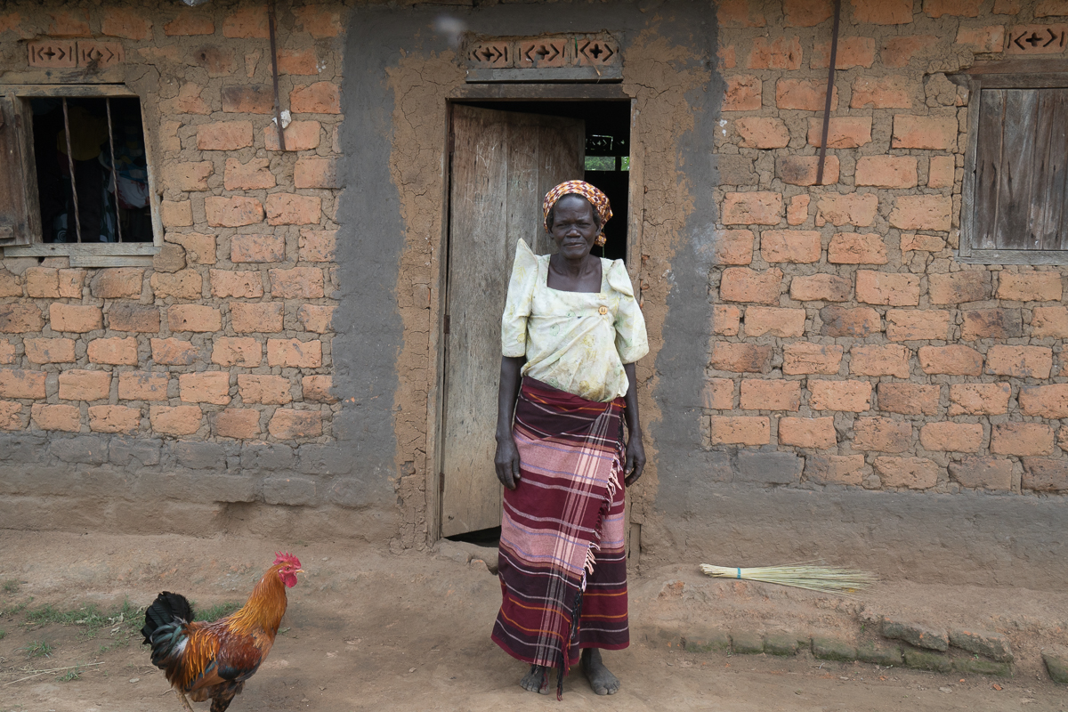 """My dream came true,"" Mary Marukera says. With her new income and savings through HDI, she is building a new house, bought cows, invested in four ox plows, can send her 10 children to school, and can feed her family.   Photo credit: Julia Tanton"