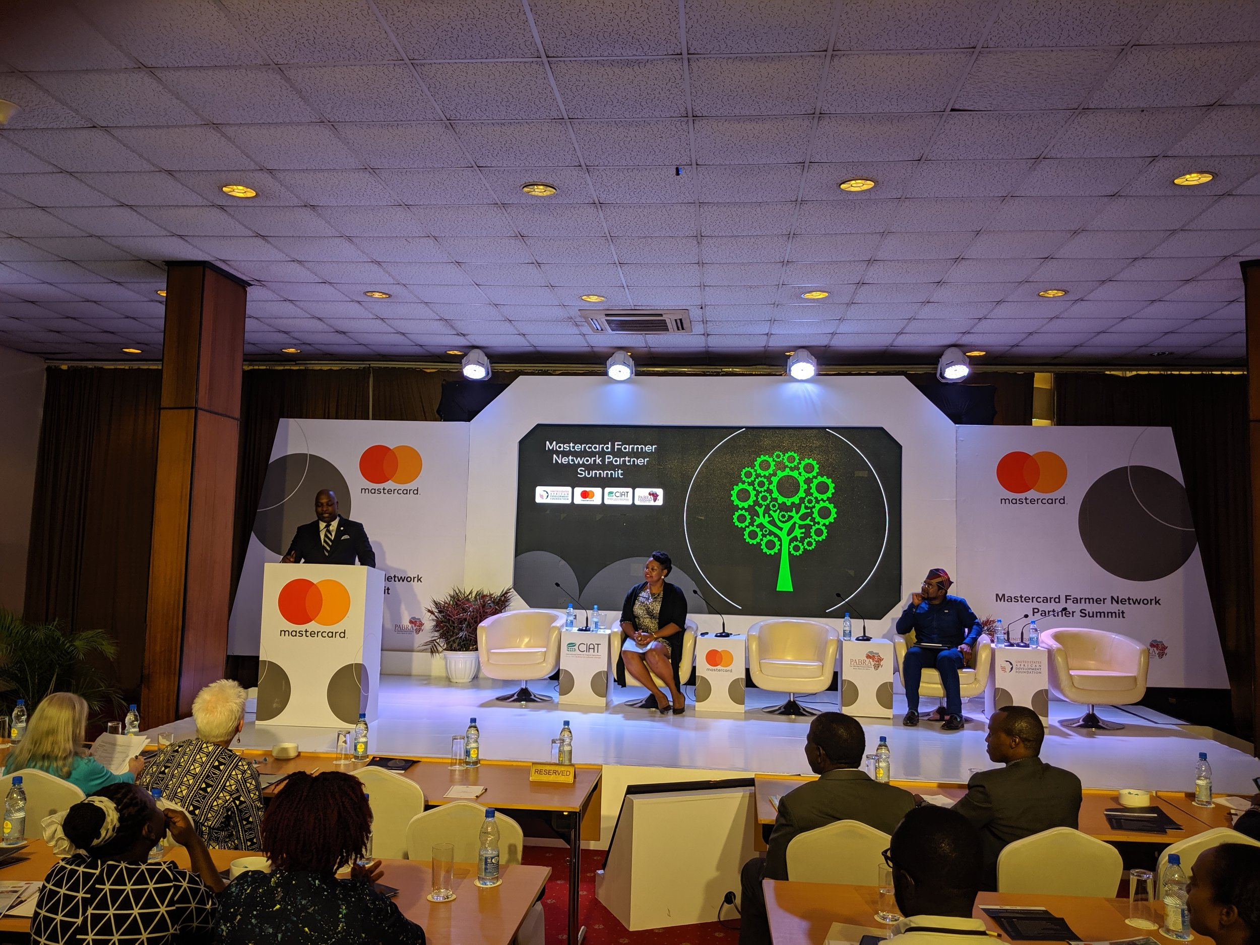 During the Mastercard Farmer Network Partner Summit, USADF President and CEO C.D. Glin spoke about the potential impact of creating digital access for farmer cooperatives in Uganda.