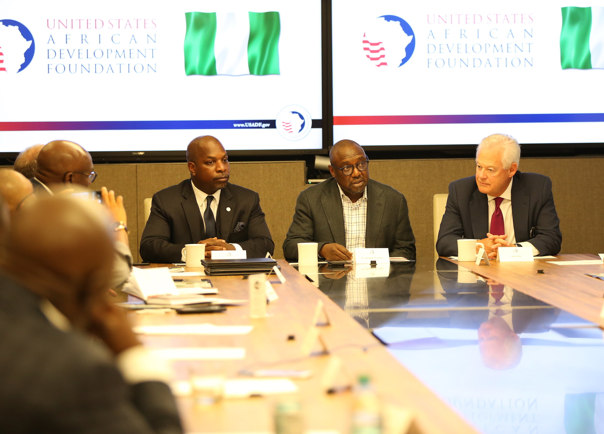 Leaders from USADF and Niger State Government held a meeting in New York City to make their partnership agreement official.