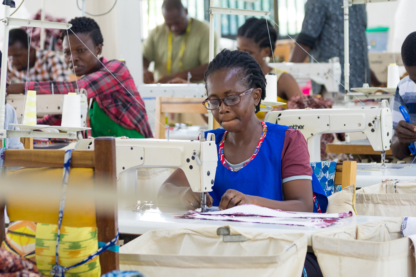 Alfie Designs manufactures clothing and accessories, and it houses a school to train women in garment production.